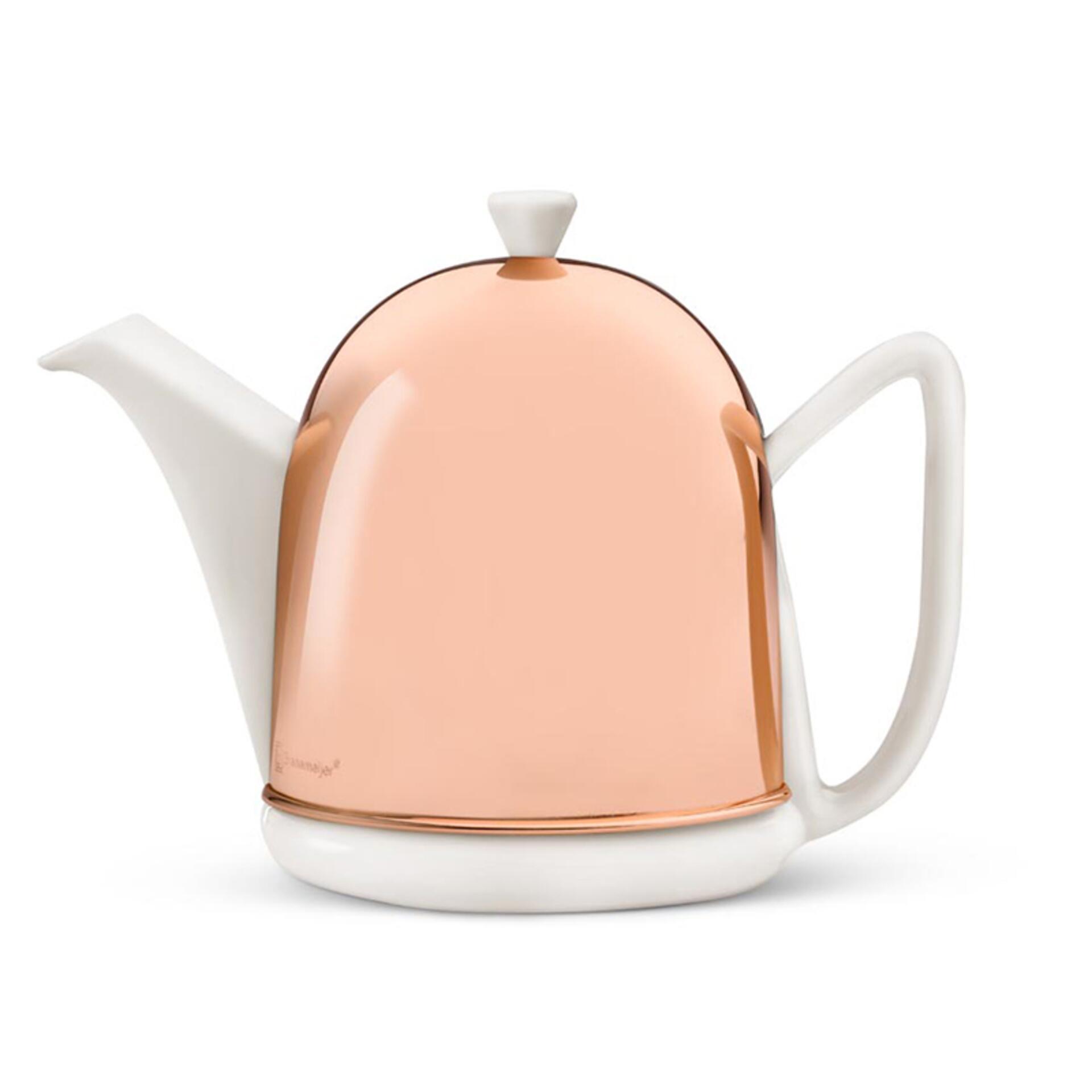 Bredemeijer Teekanne Cosy Manto 1,0 l Kupfer Weiß