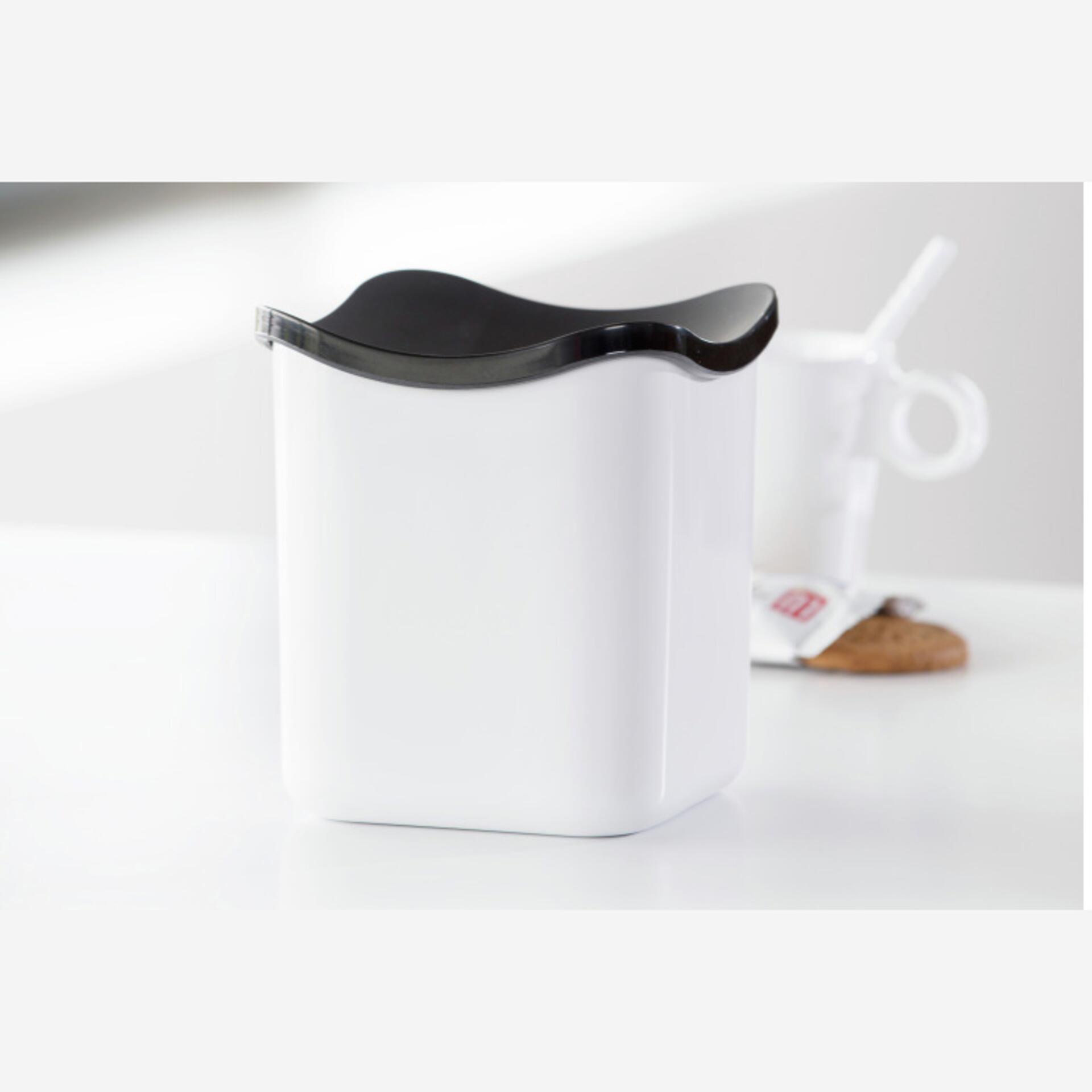 Rosti Mepal Tischabfalleimer Cube Weiß