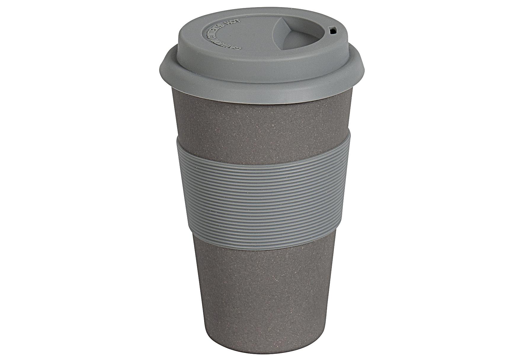 MAGU Becher Coffee to go Natur Design 350 ml schiefer ca. 70 % Cellulose (gewonnen aus Bambusfasern, Maisstärke und Holzfasern) / ca. 30 % Harze, lebensmittelecht