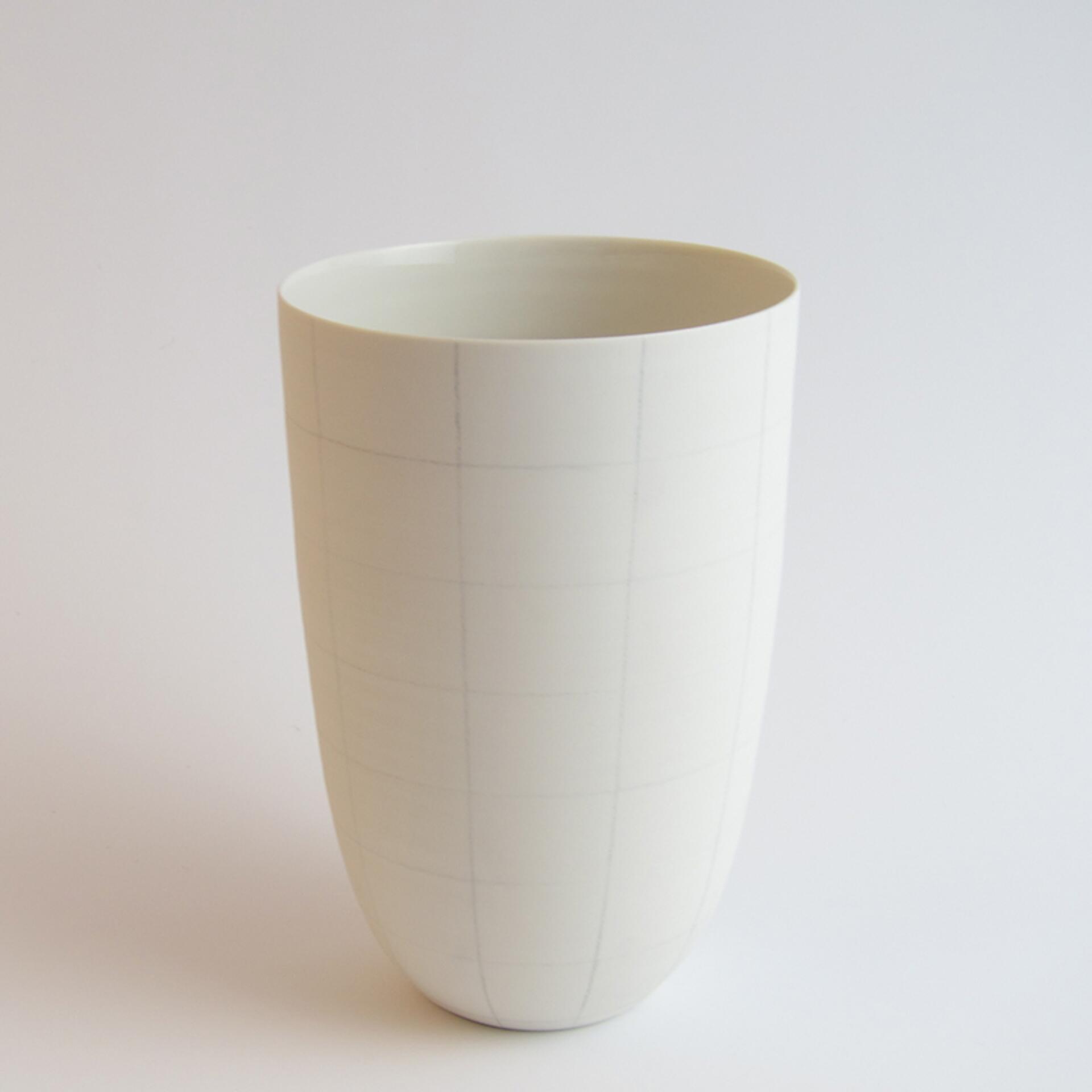 Schoemig Porzellan Vase Graph Quadrat