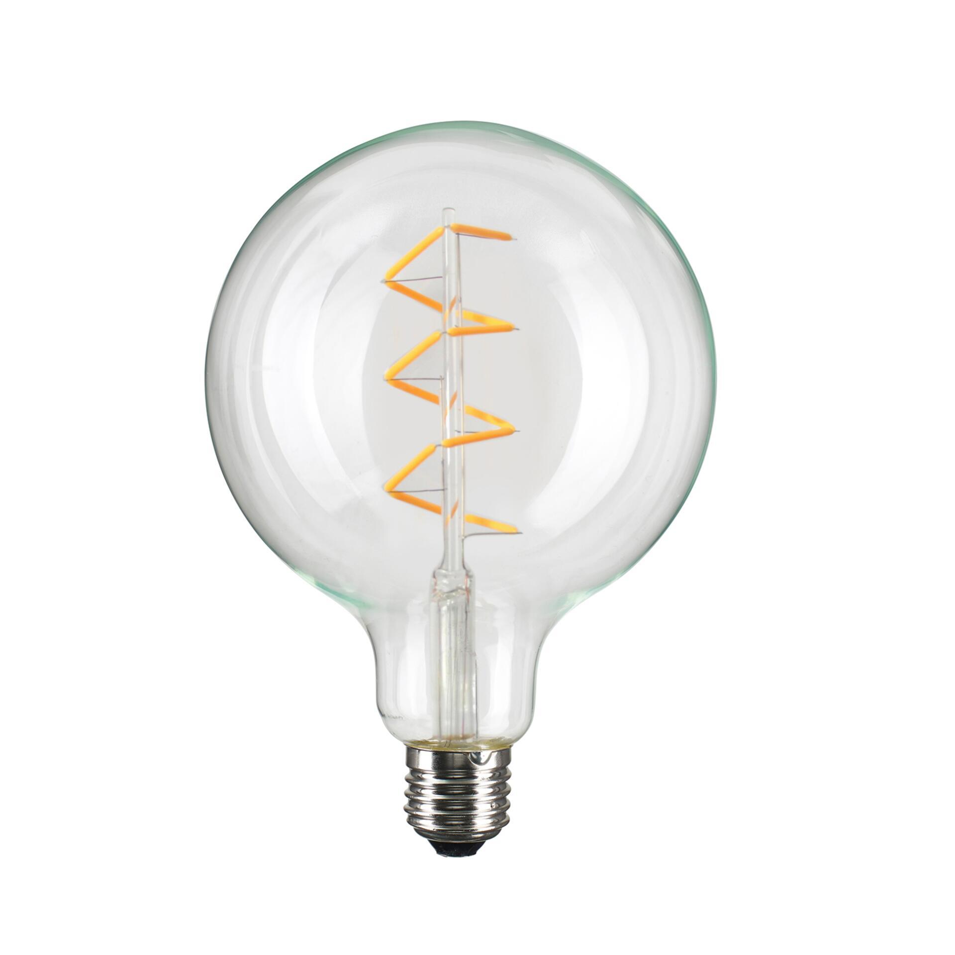 Nud LED Glühbirne Globe 125 mm dimmbar Spiral