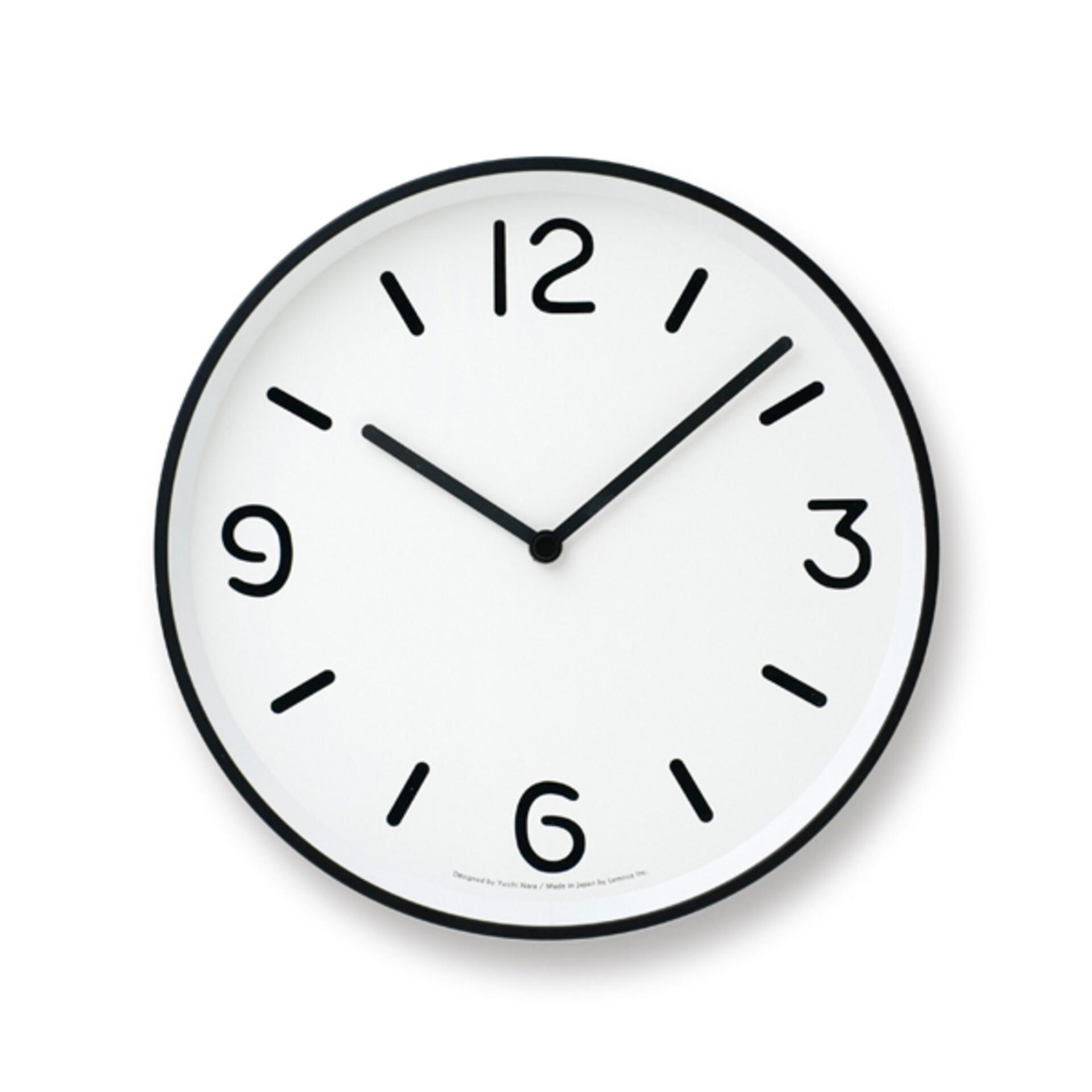 Lemnos Mono Clock Designuhr Weiss