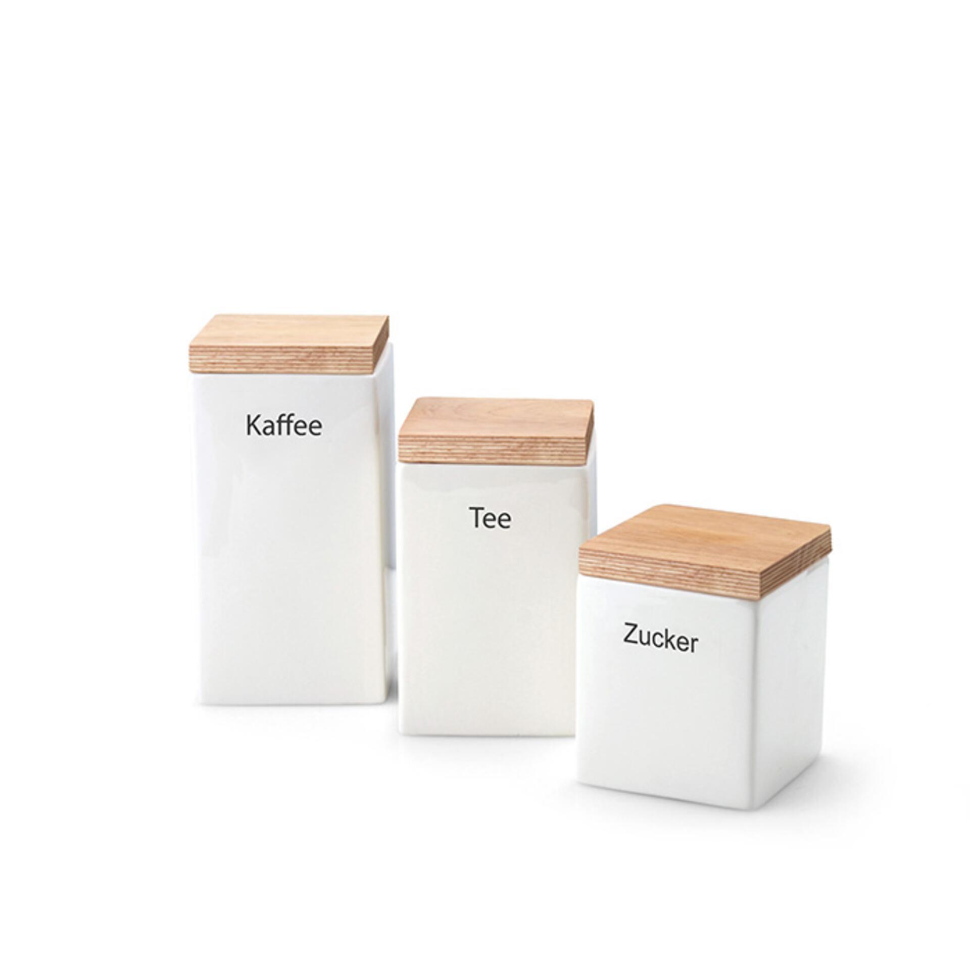 Continenta Vorratsdose quadratisch mit Holzdeckel 1200 ml