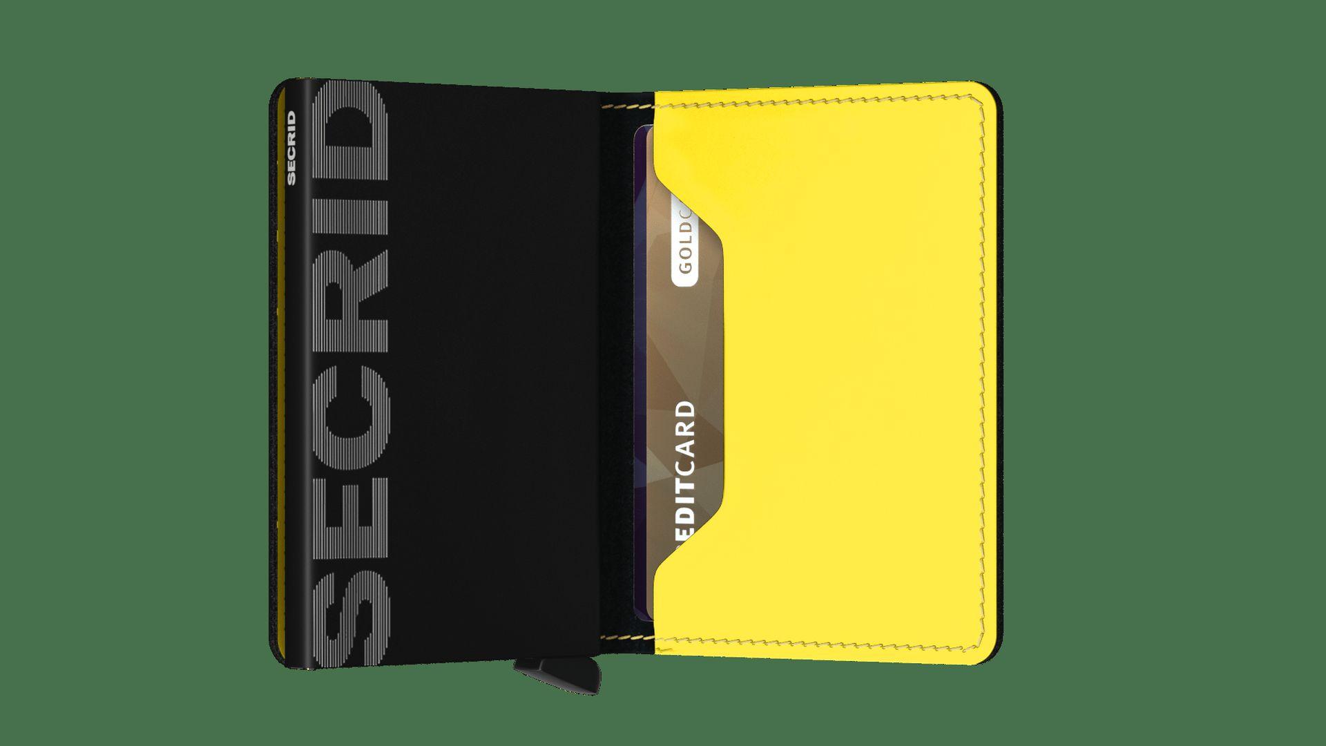 Secrid Slimwallet Matte Black & Yellow