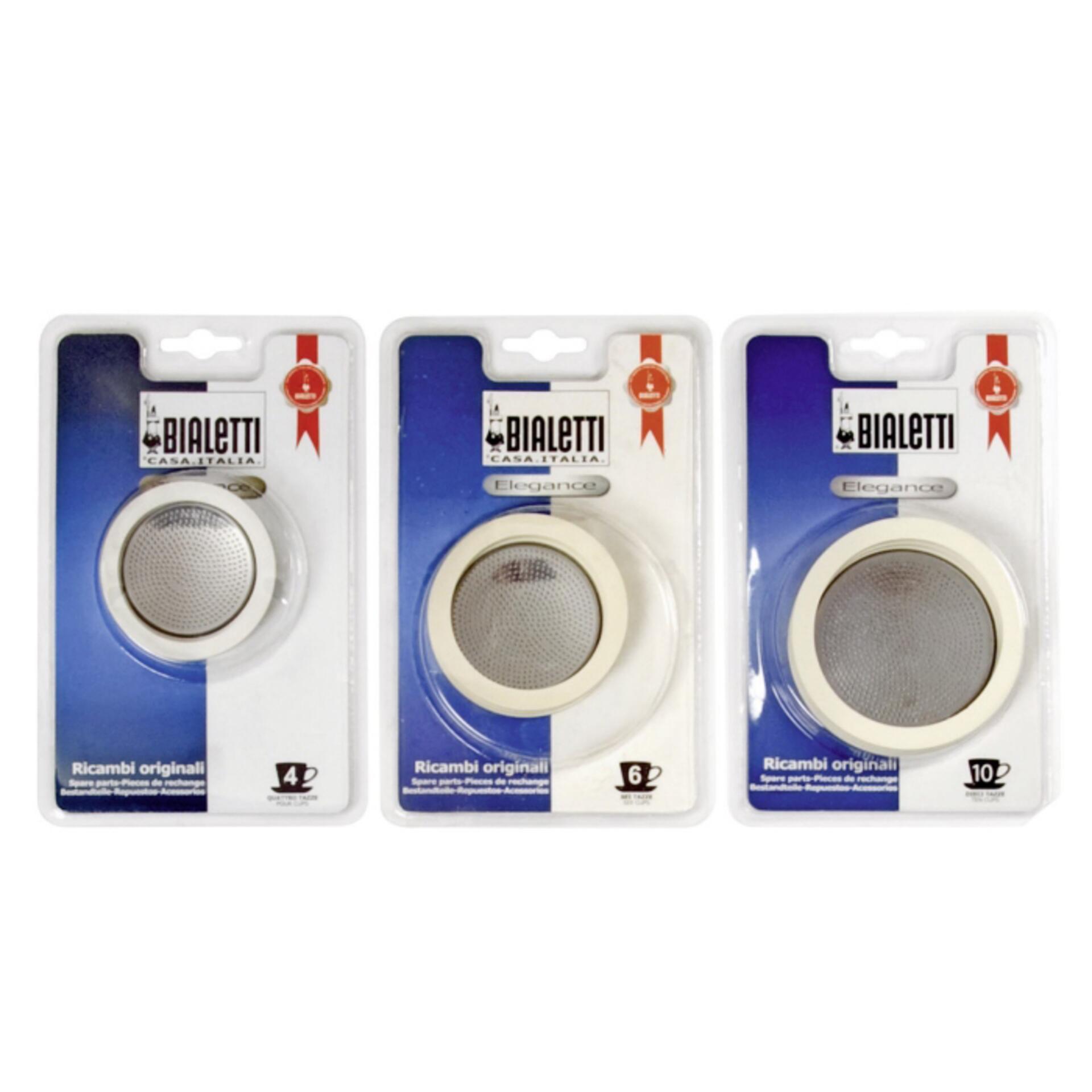 Bialetti Gummidichtung und Filter Edelstahlmaschinen 6 Tassen