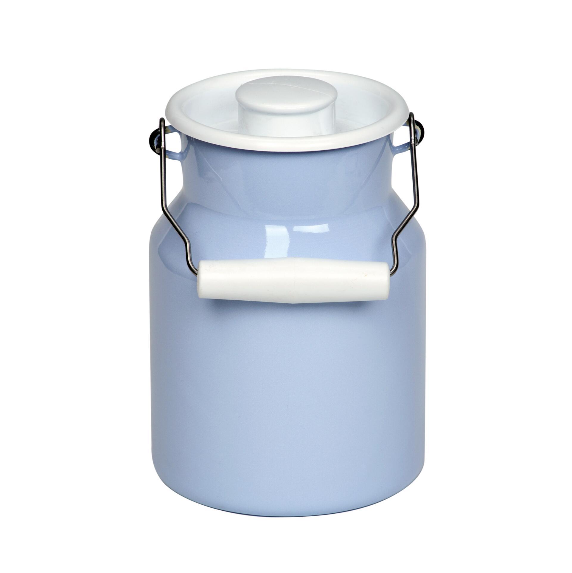Riess Milchkanne mit Deckel Hellblau