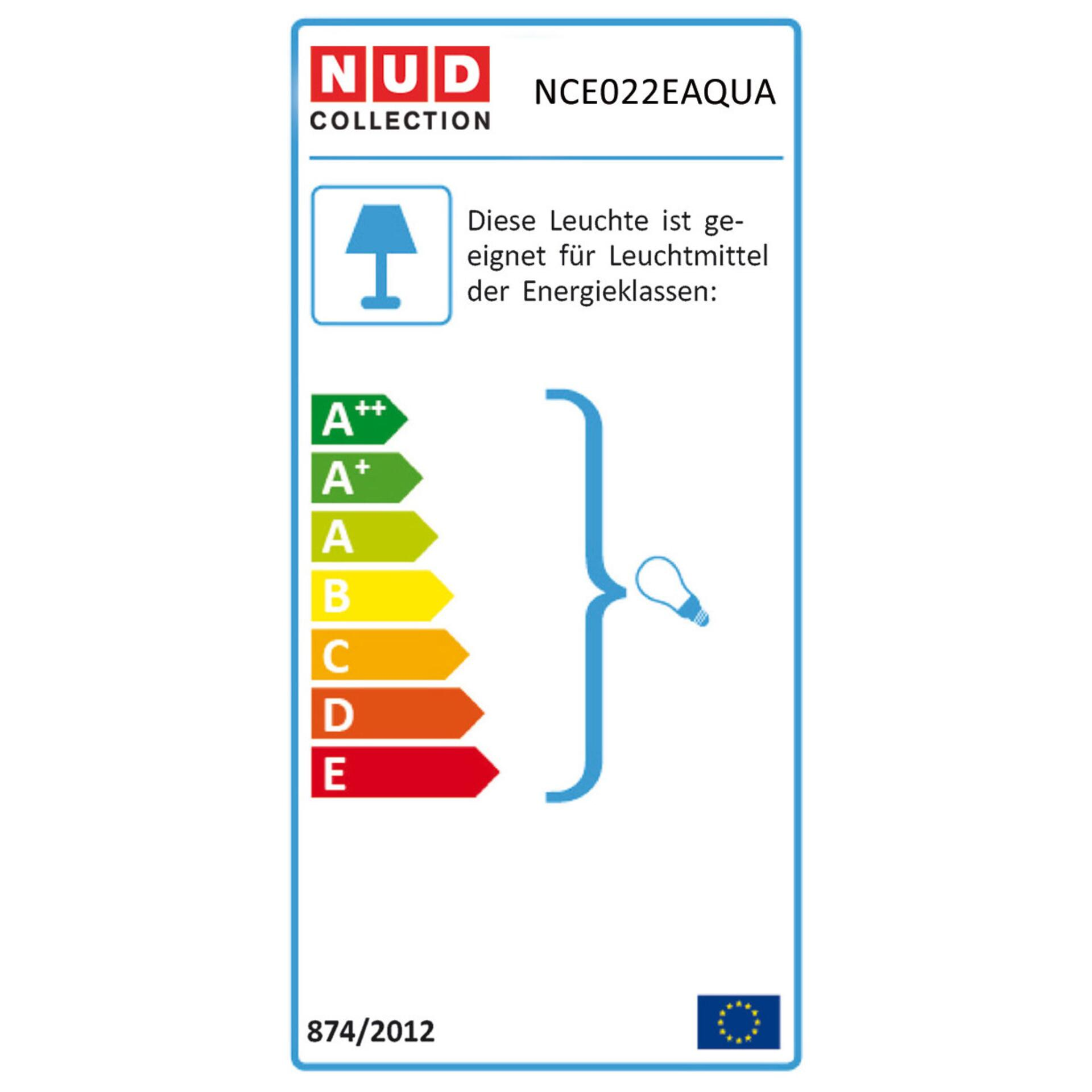 Nud Kupferleuchte Aqua Schwarz