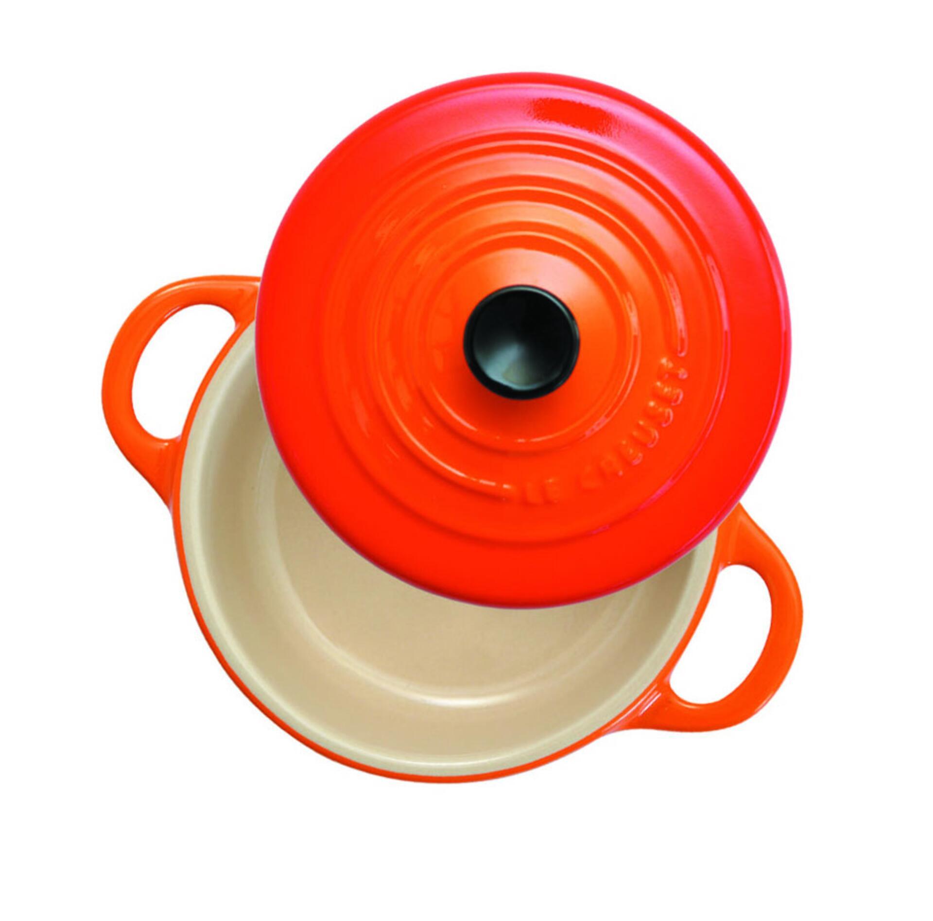 Le Creuset Mini Cocotte 4er Set 10 cm 0,2 l Kirschrot