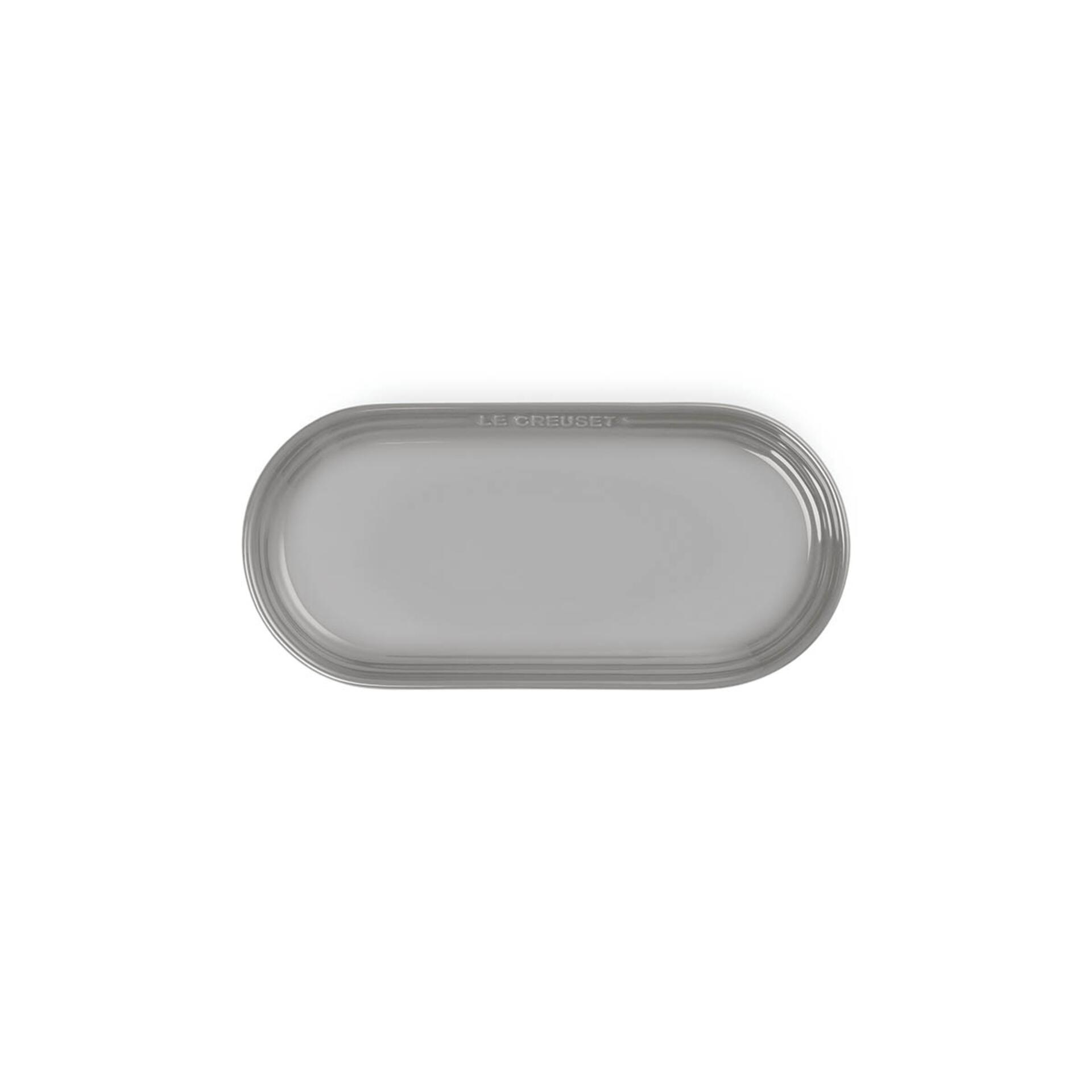 Le Creuset Teller Oblong 25 cm Perlgrau
