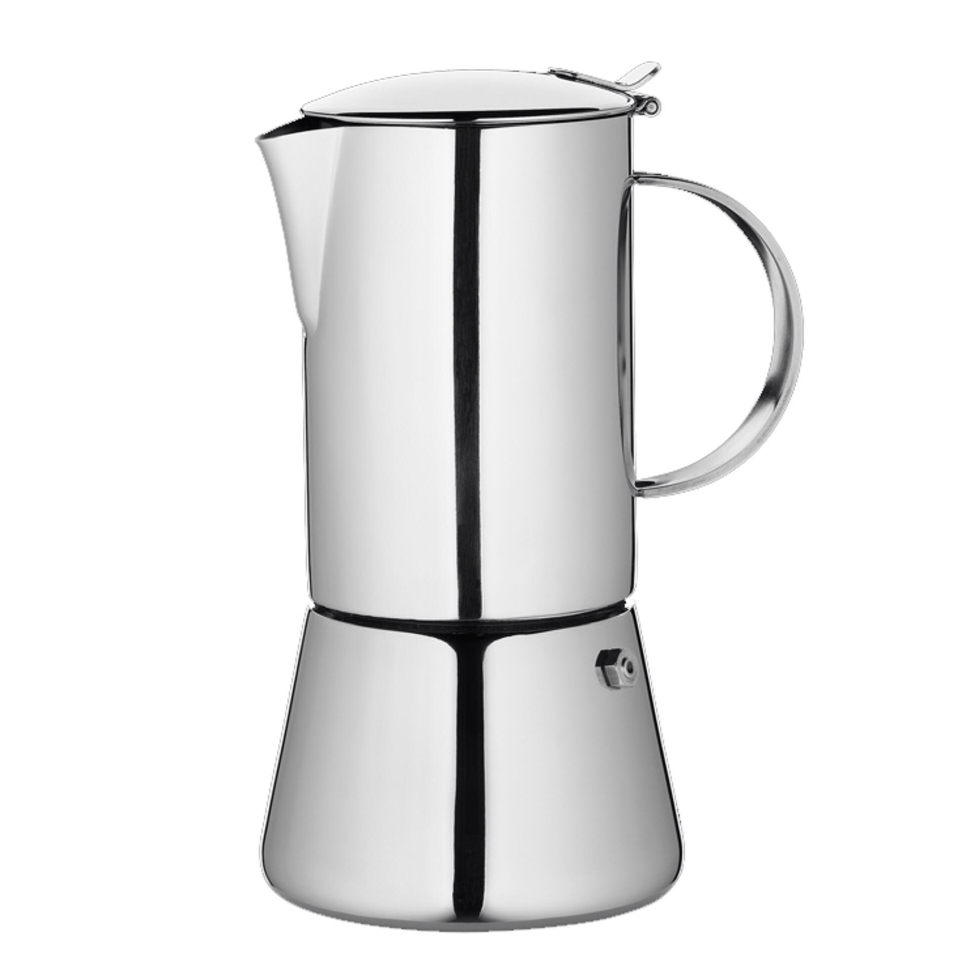 Cilio Espressokocher Edelstahl Aida 6 Tassen