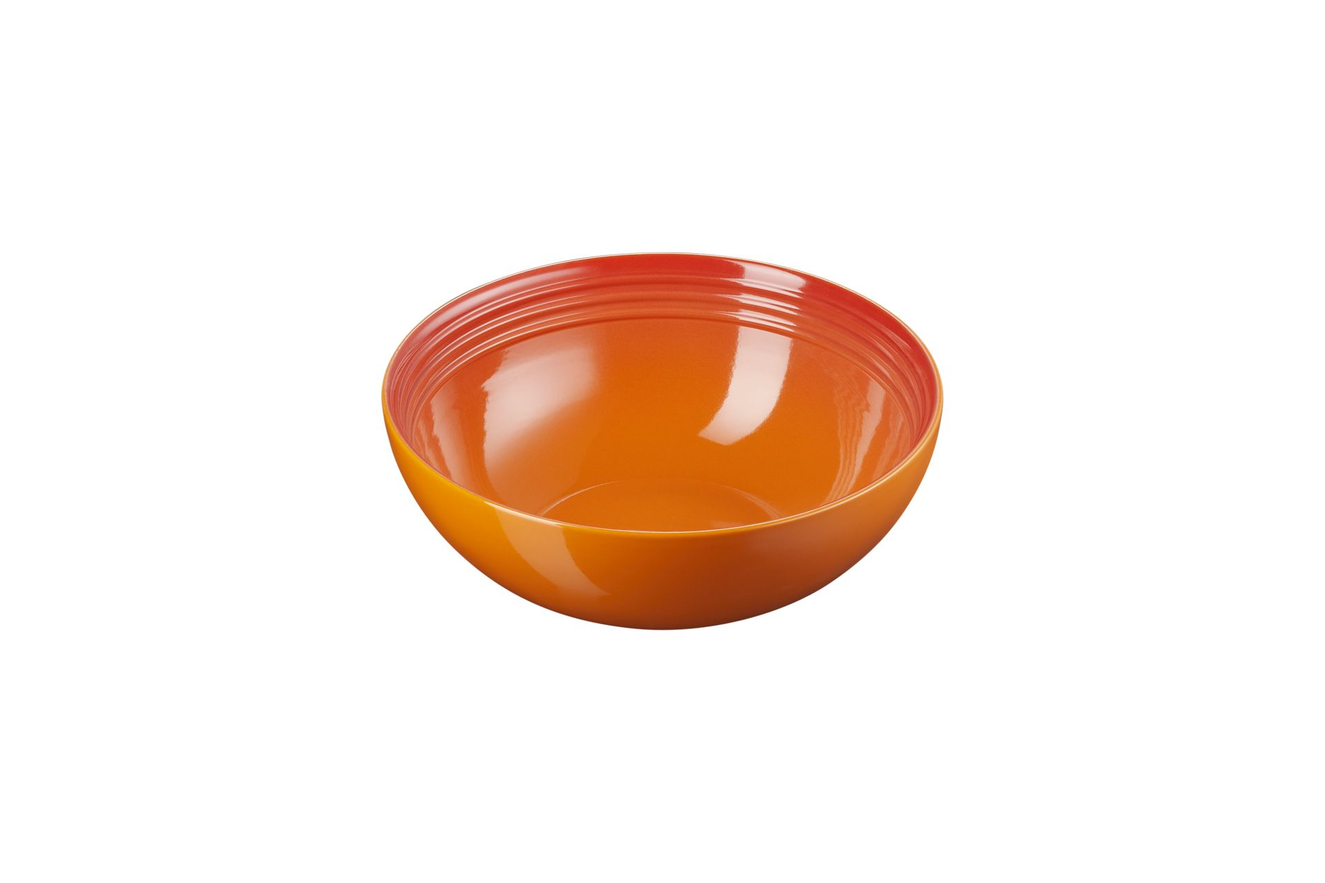 Le Creuset Salatschüssel 24 cm Ofenrot