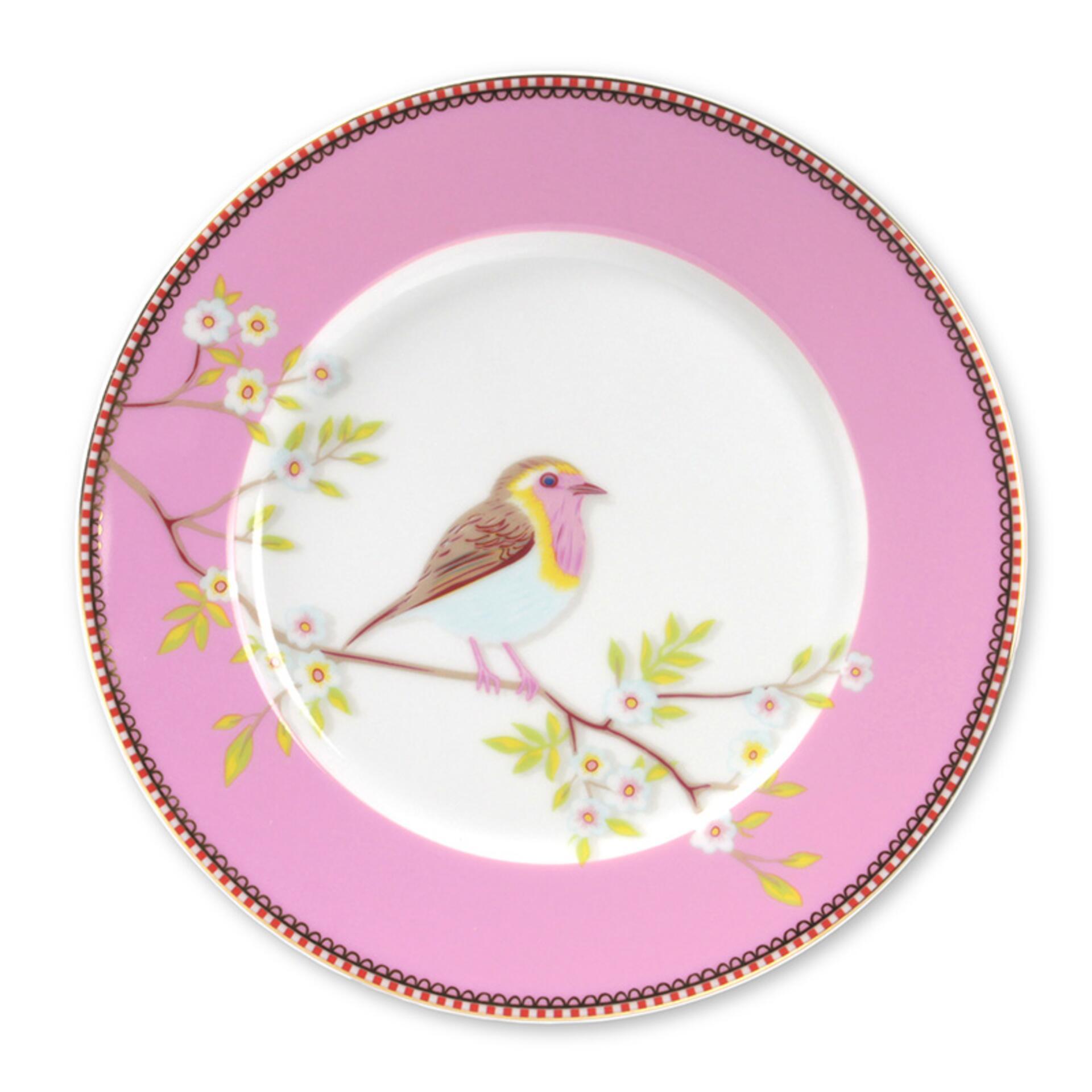 PiP Porzellan Frühstücksteller Early Bird Pink
