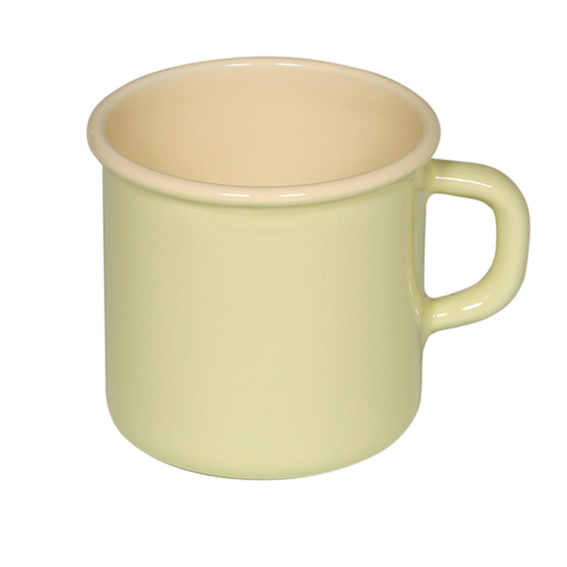 Topf mit Bördel Gelb 8 cm 0,4 l