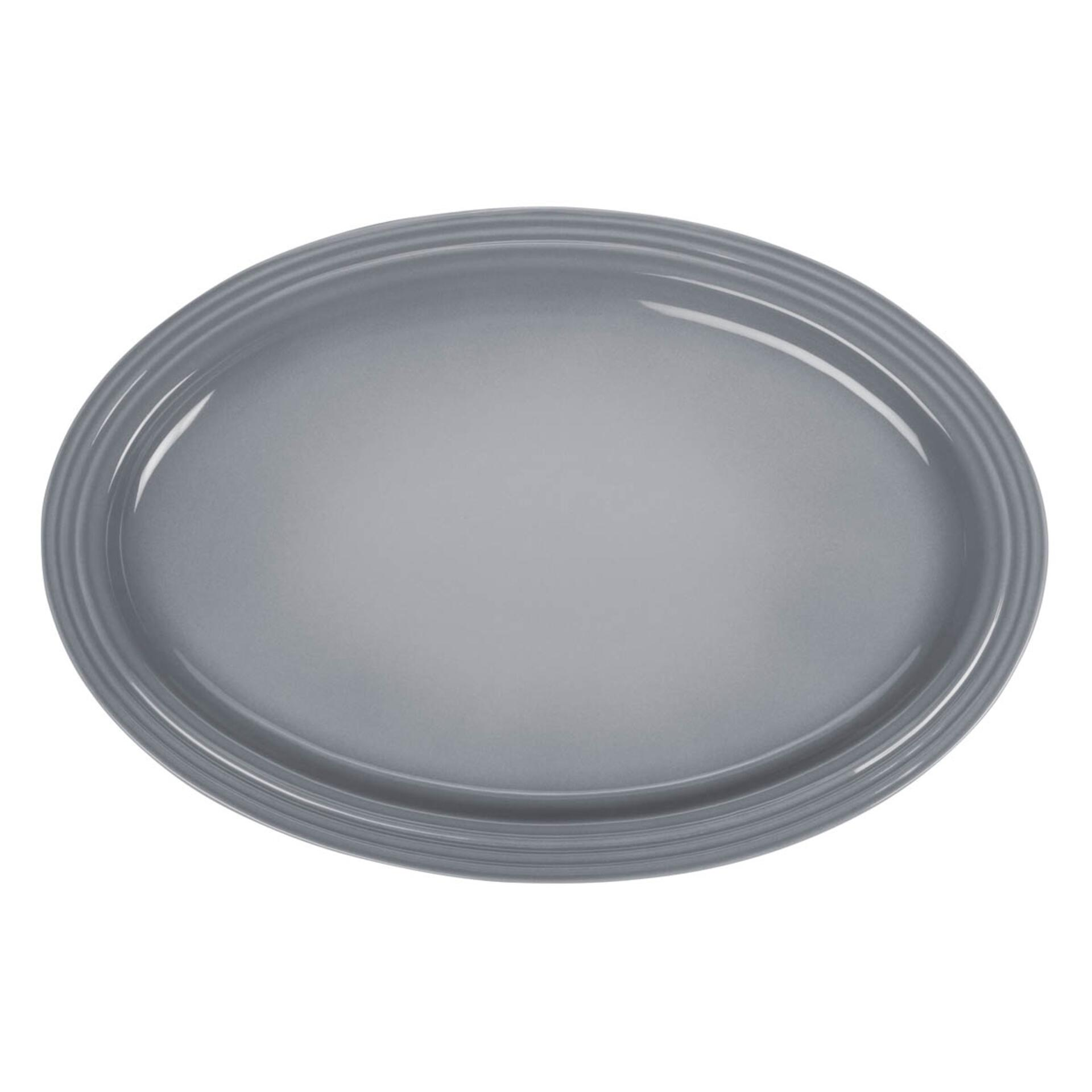 Le Creuset Servierplatte oval 46 cm Perlgrau