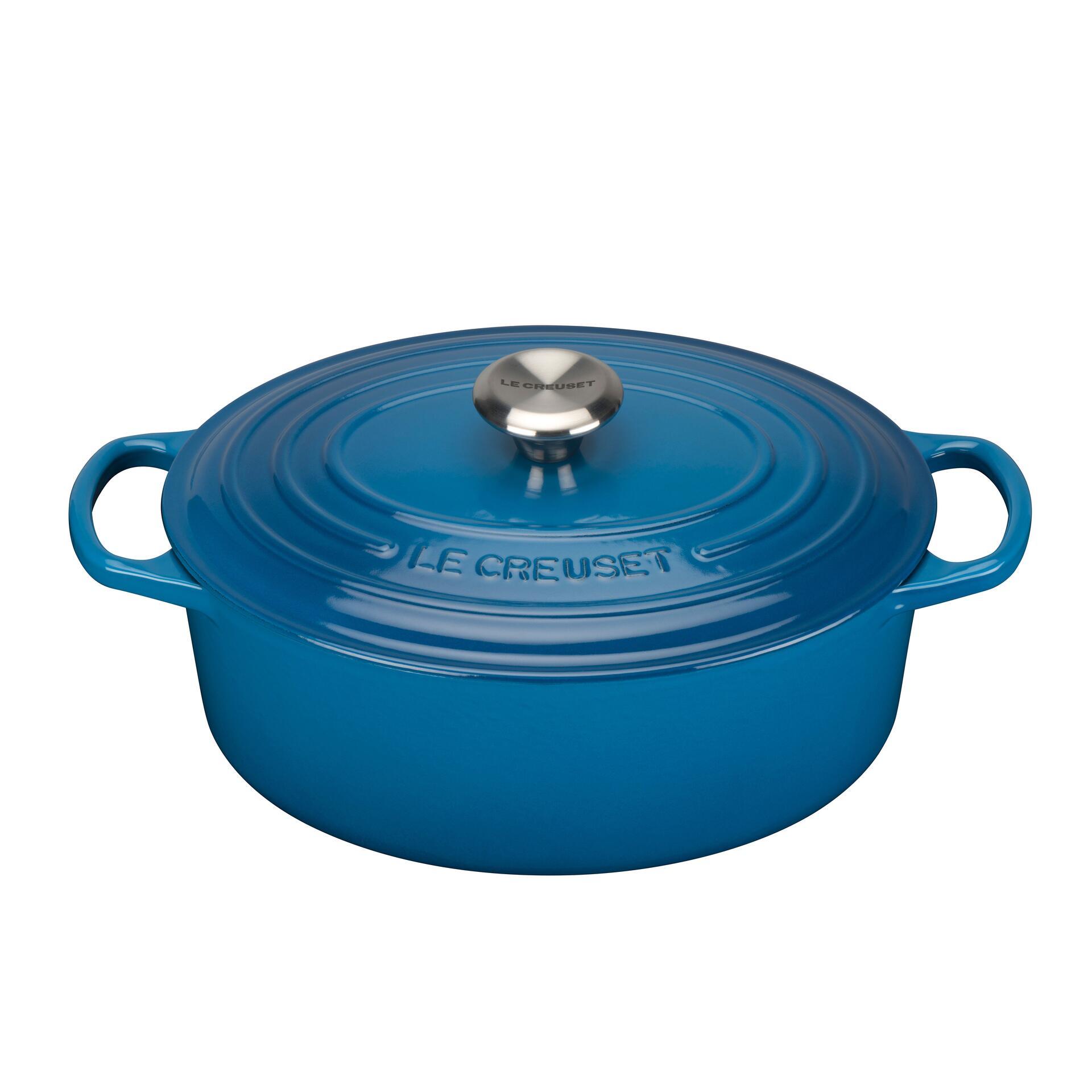 Le Creuset Bräter Signature 29 cm oval Marseille Blau 4,7 L
