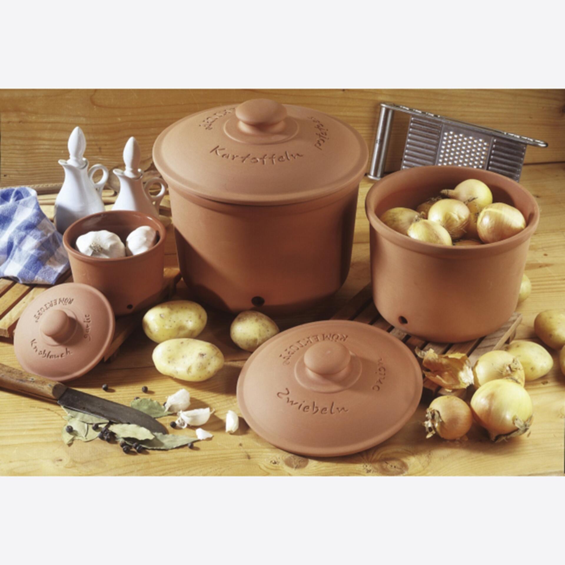 Römertopf Vorratstopf für Kartoffeln
