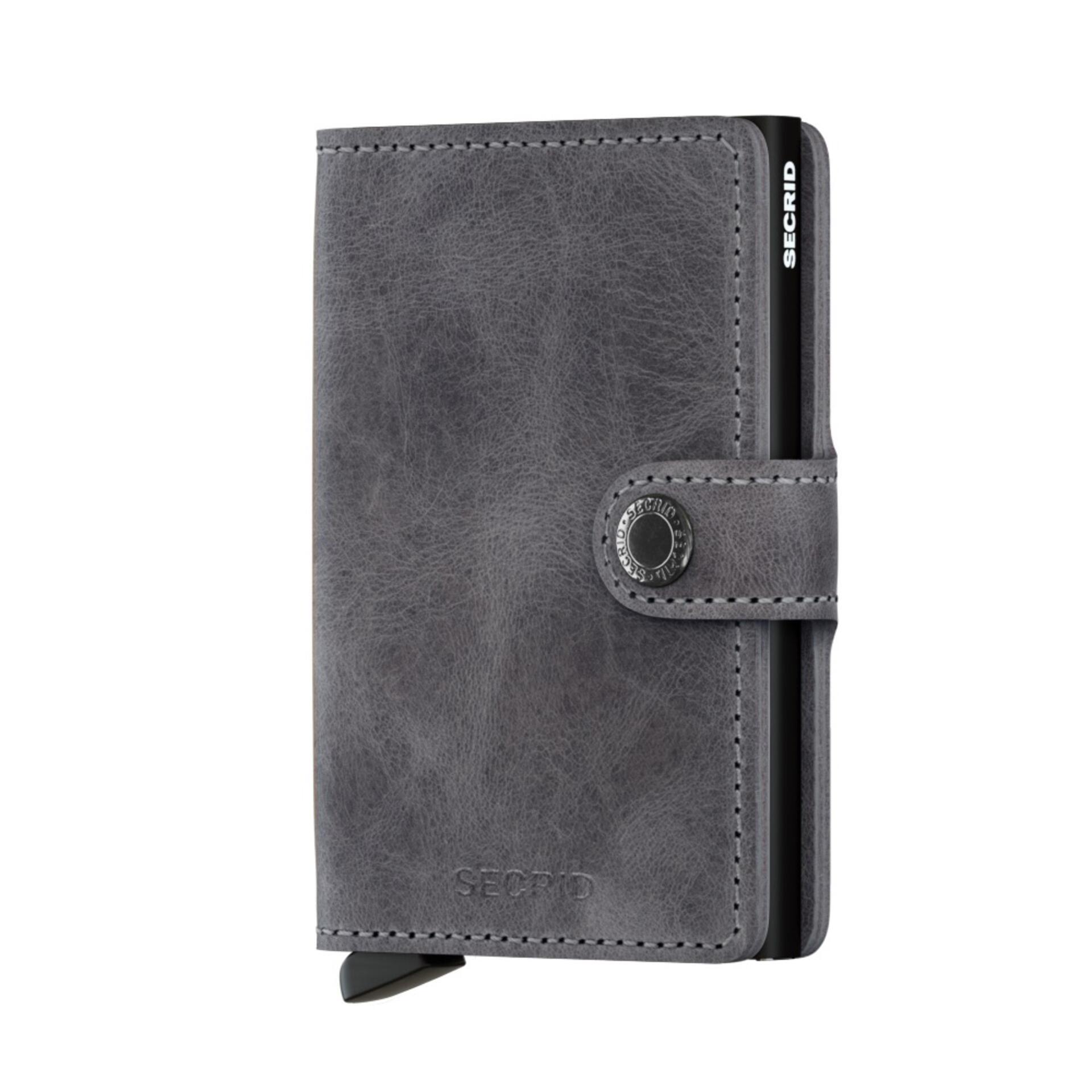 Secrid Miniwallet Vintage Grey Black Leder