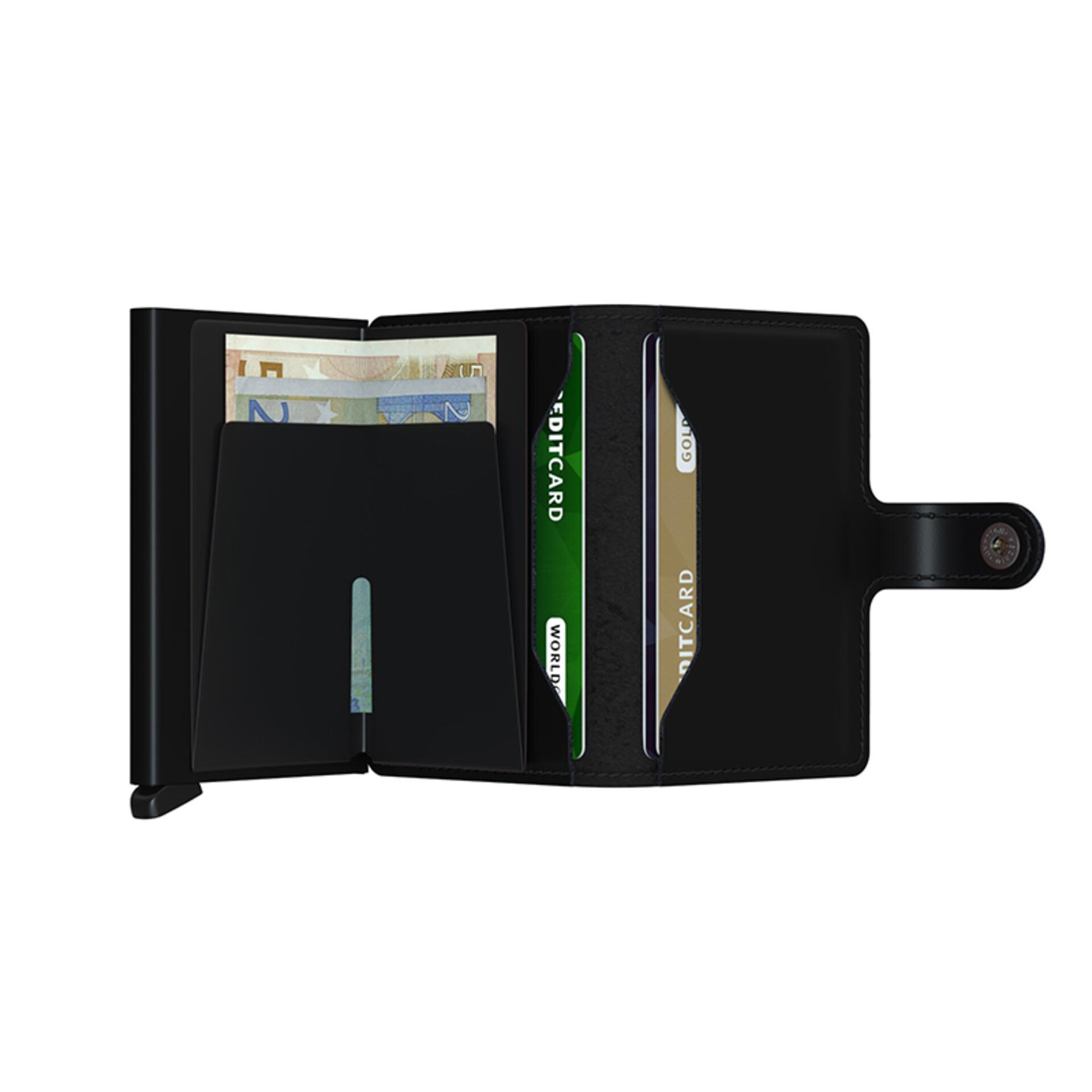 Secrid Miniwallet Matte Black Leder