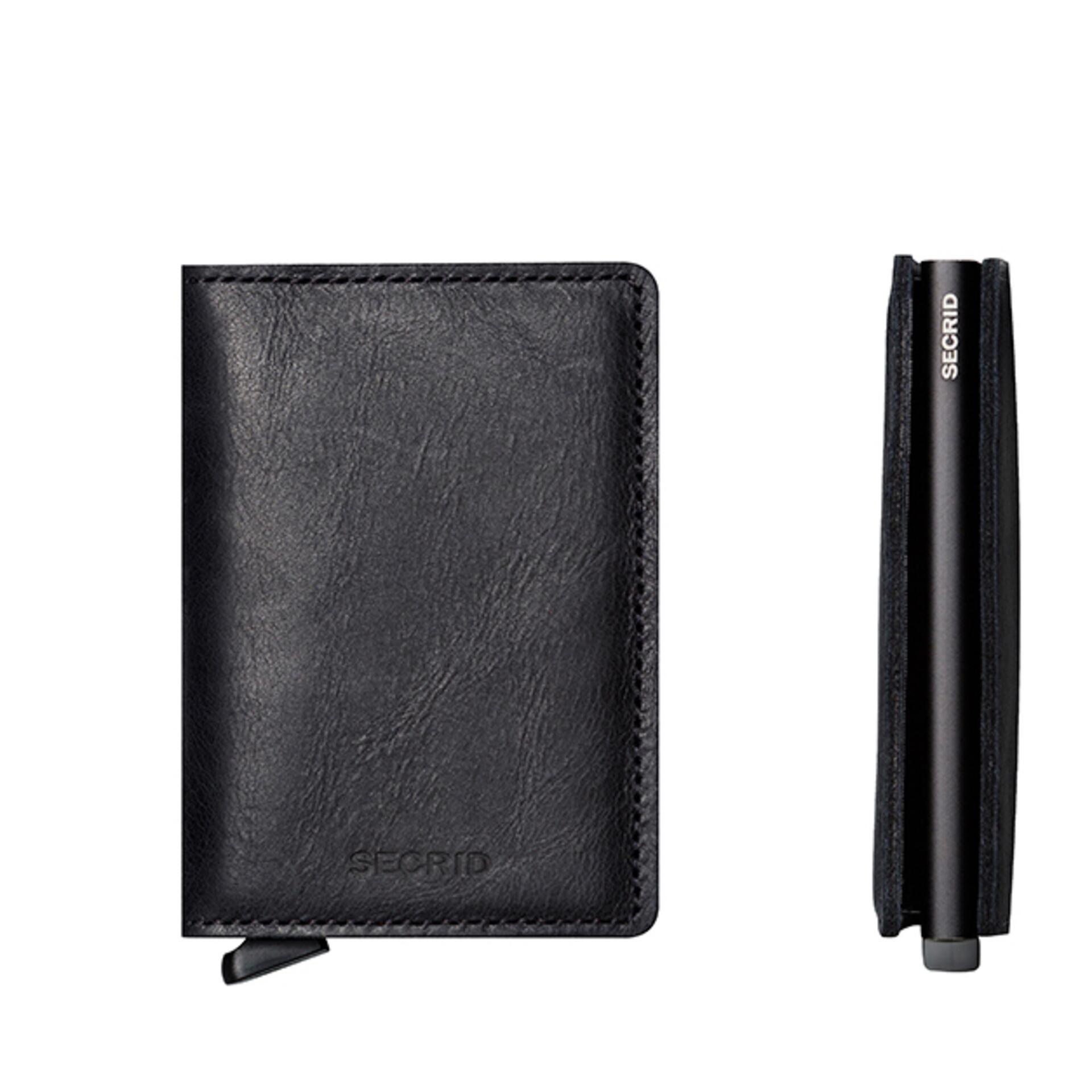 Secrid Slimwallet Vintage Black Leder