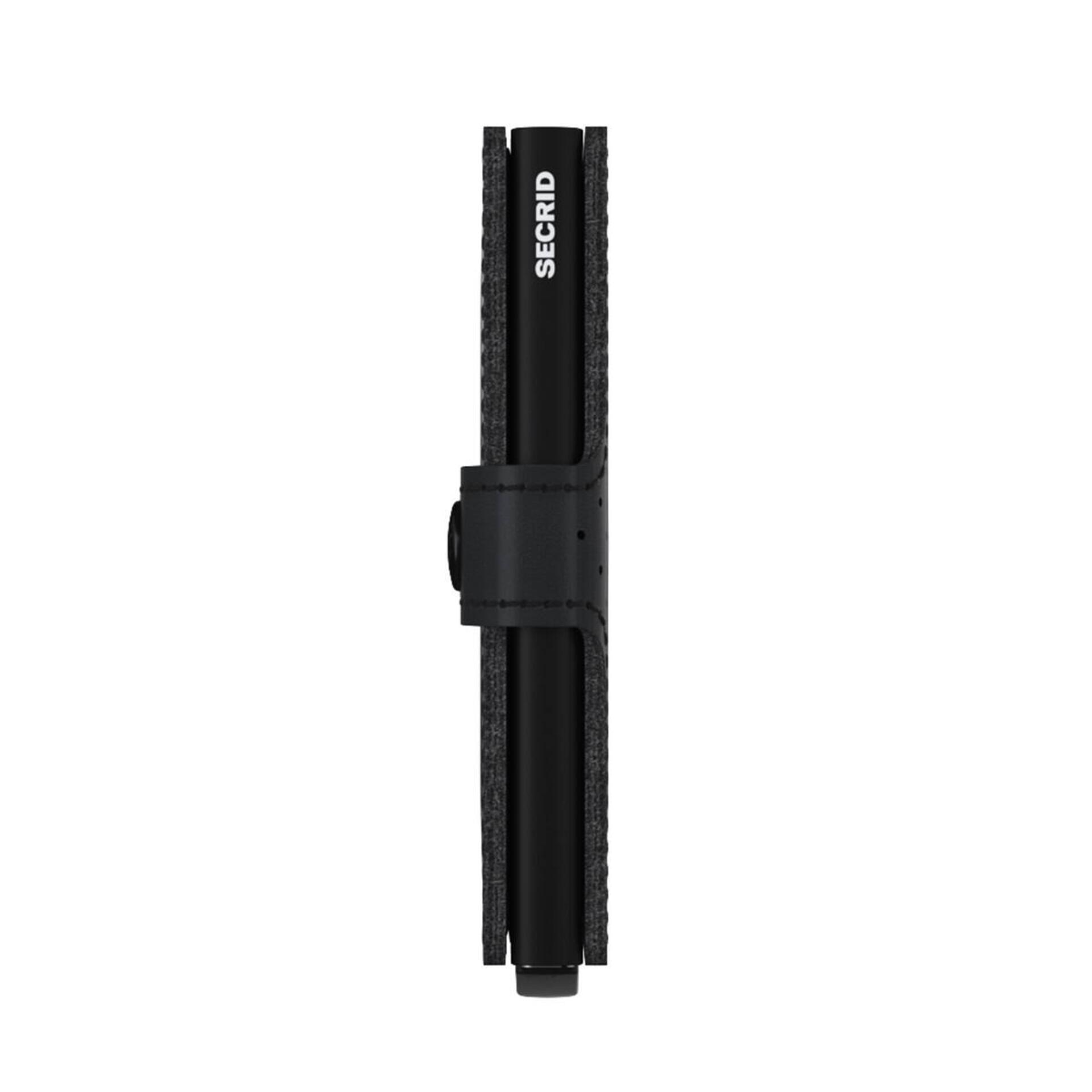 Secrid Miniwallet Perforated Black Leder