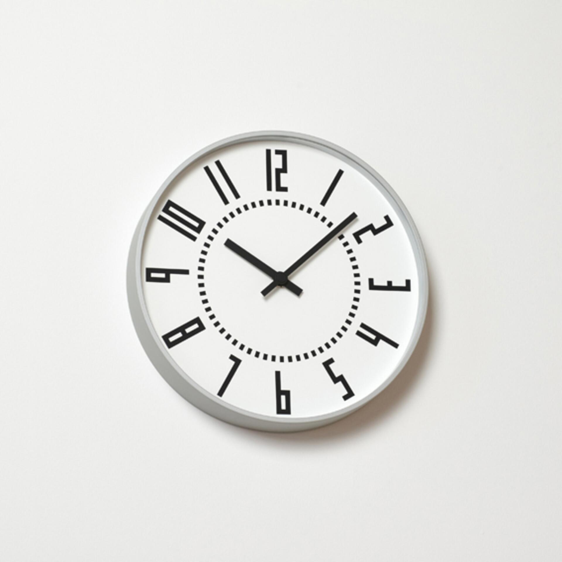 Lemnos Eki Clock Designuhr Weiß