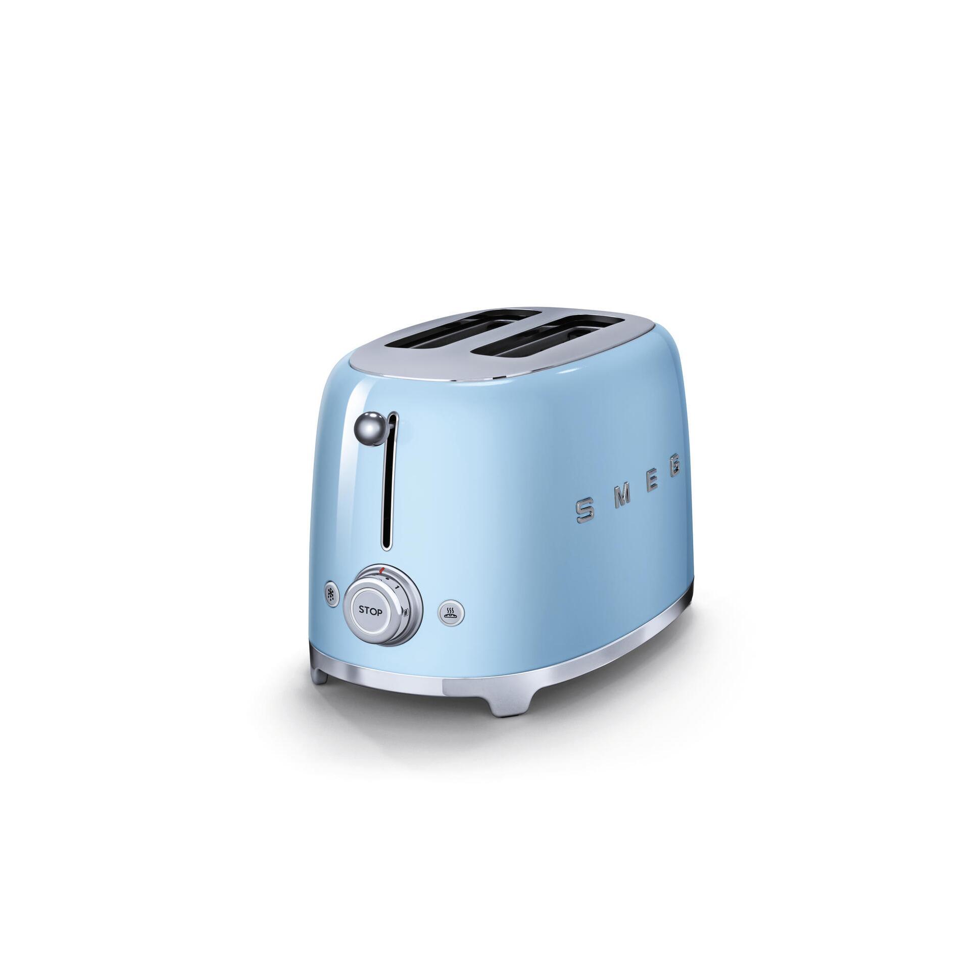 Smeg Retro 2-Scheiben-Toaster Pastellblau