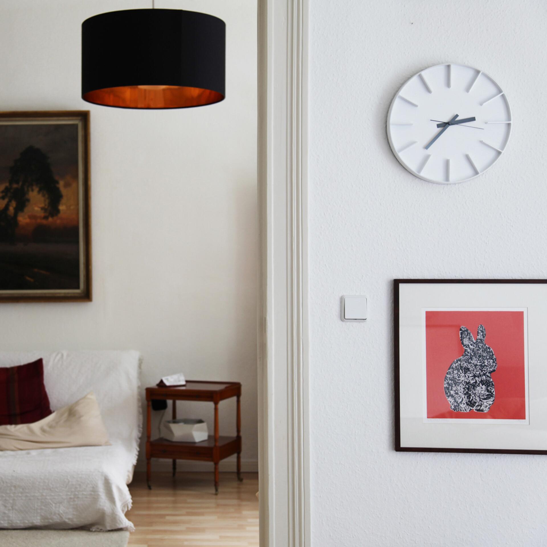 Lemnos Edge Clock Designuhr Groß Weiß