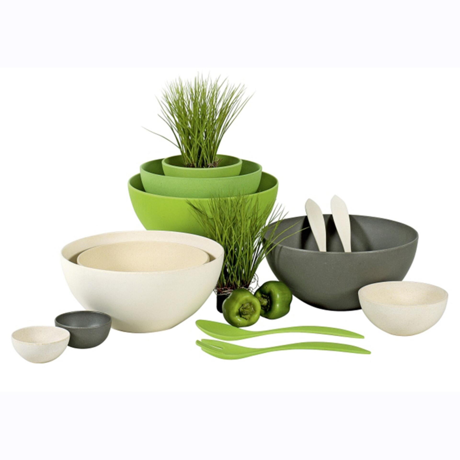 Magu Natur-Design Salatbesteck 26 cm Urban Grey