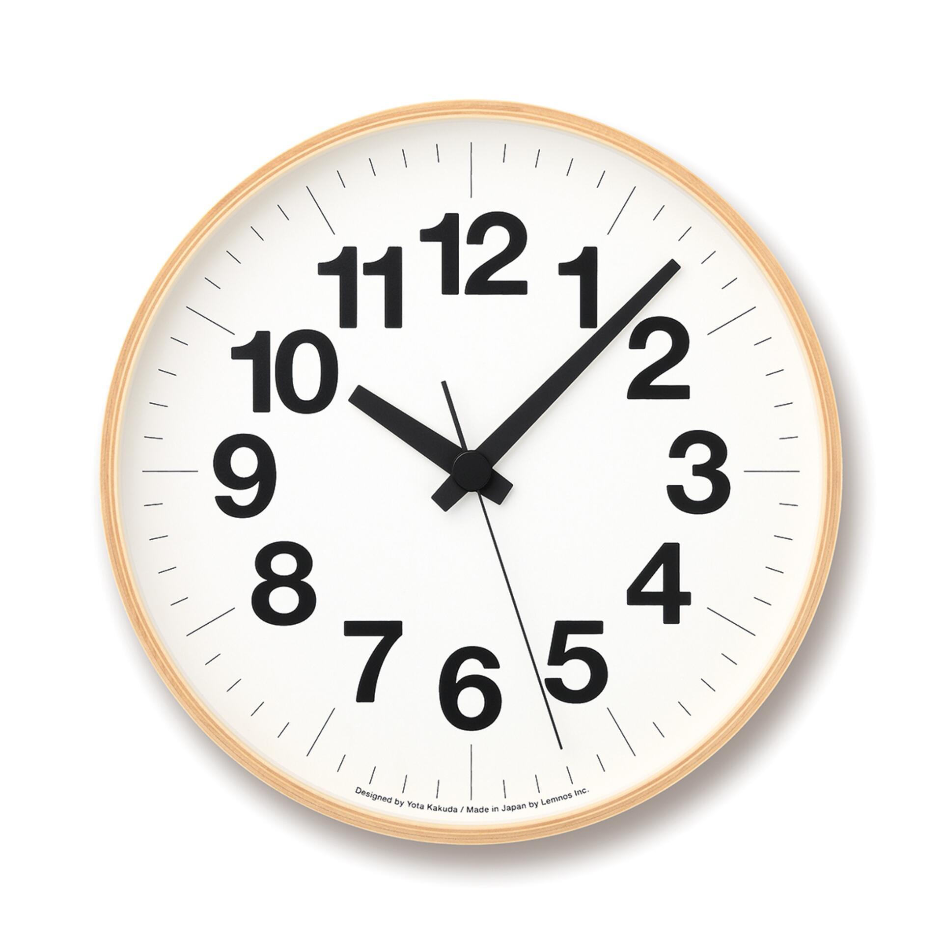 Lemnos Numbers Clock Wanduhr Groß