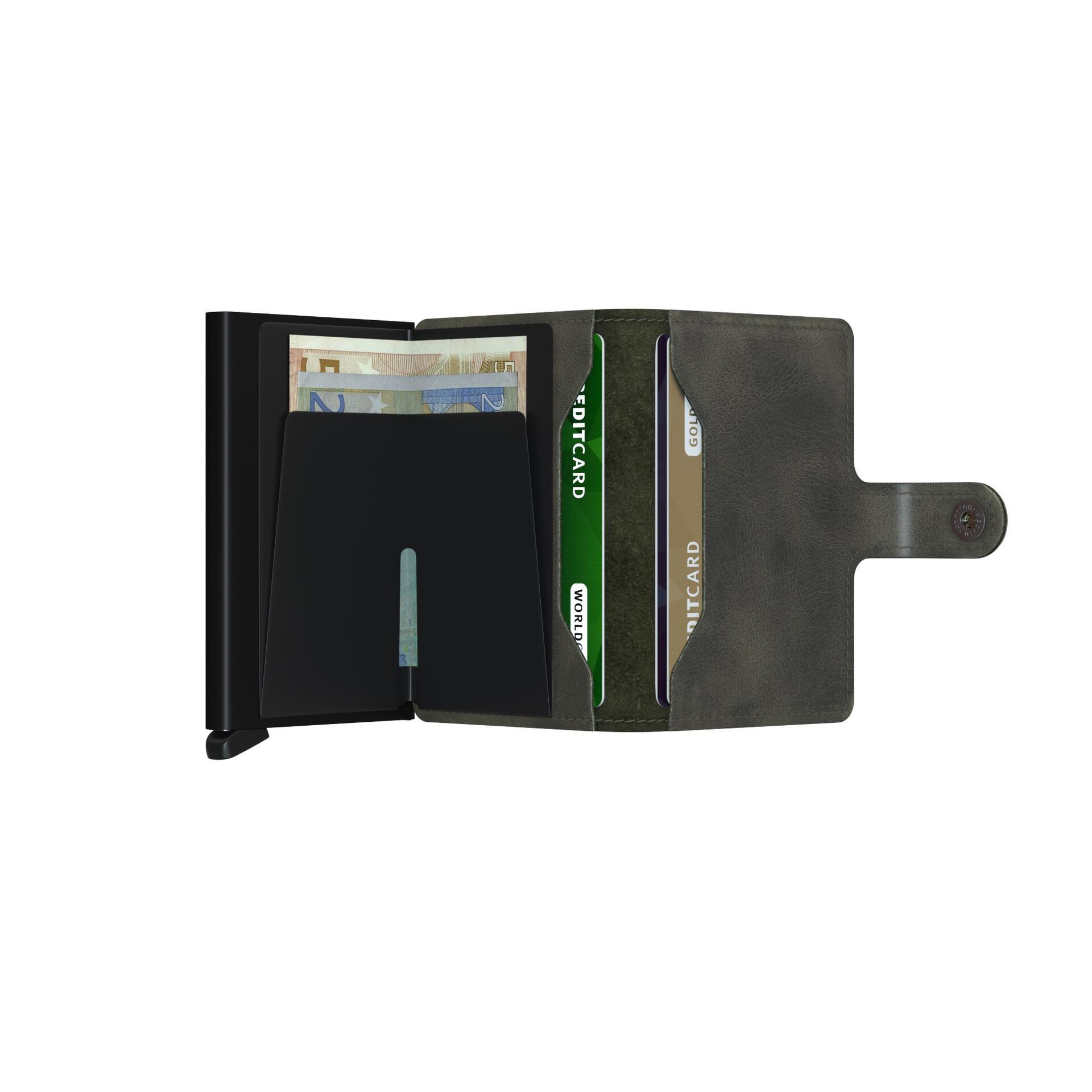Secrid Miniwallet Vintage Olive Black Leder