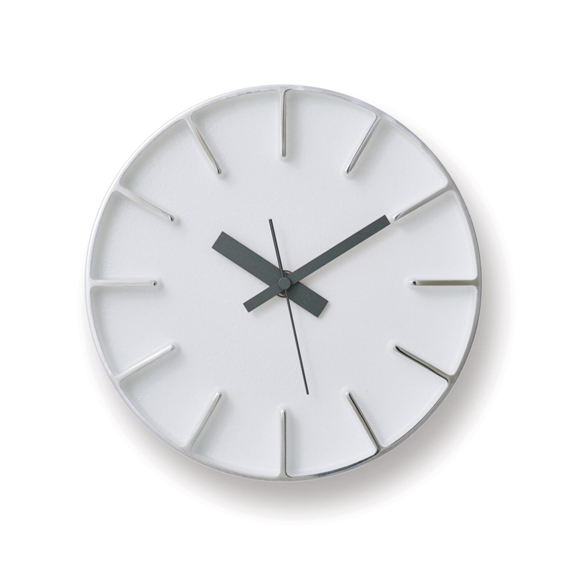 Lemnos Edge Clock Designuhr Klein Weiß
