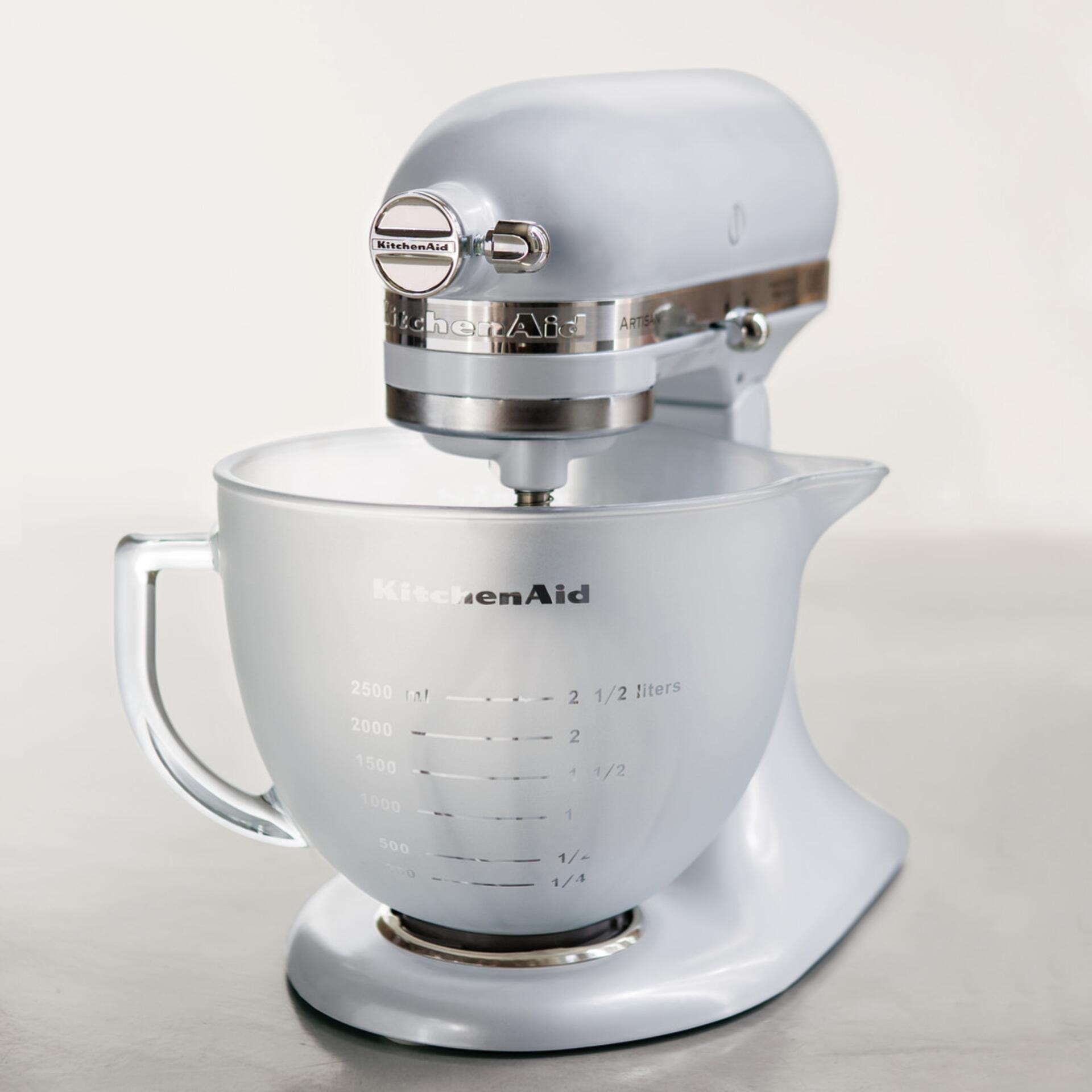 KitchenAid Frosted Glasschüssel 4,83 Liter mit Griff und Silikondeckel 5K5GBF