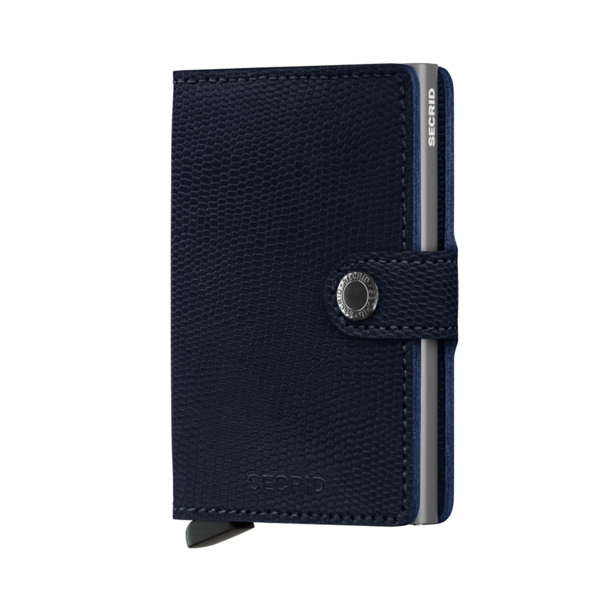 Secrid Miniwallet Rango Blue Titanium Leder