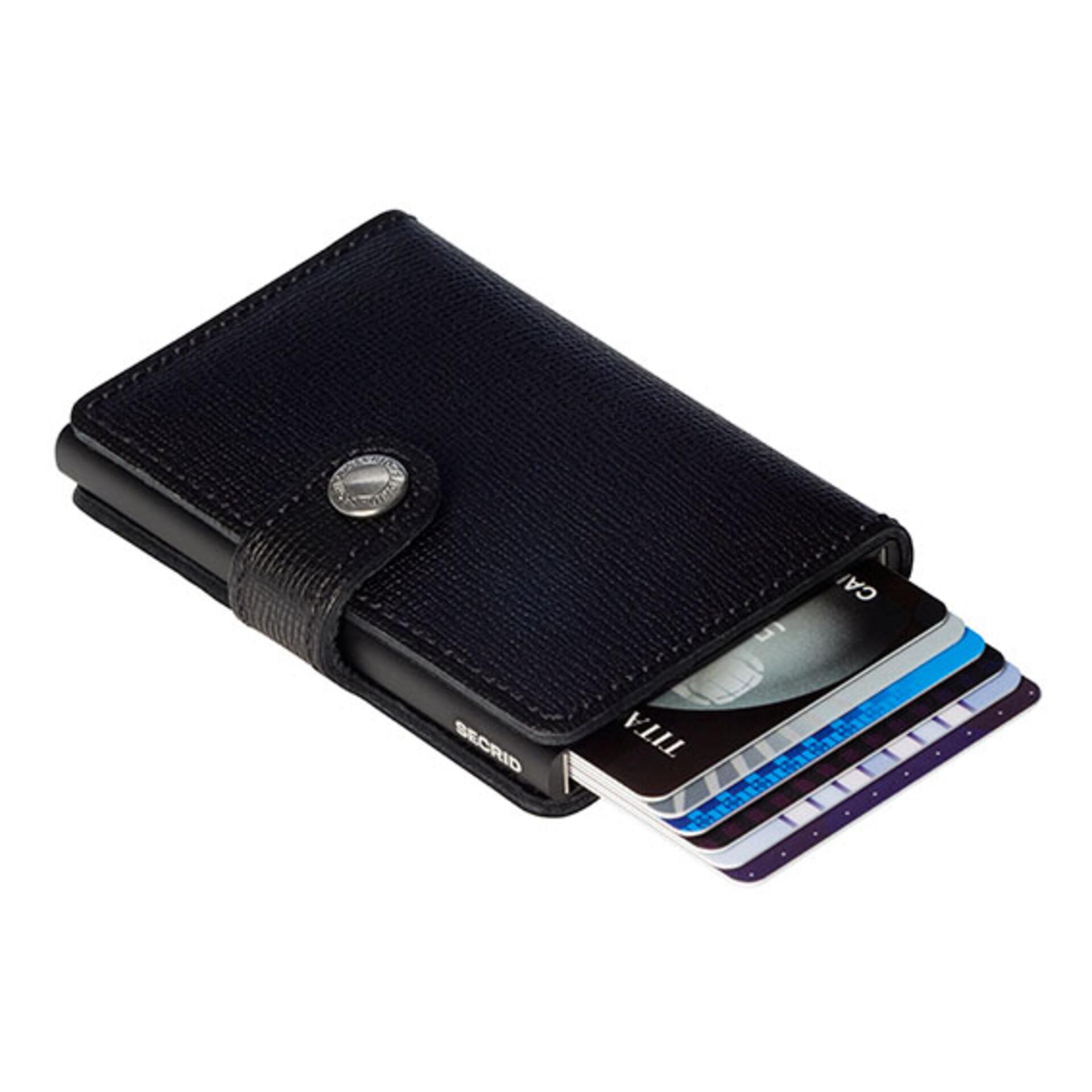 Secrid Miniwallet Crisple Black Leder