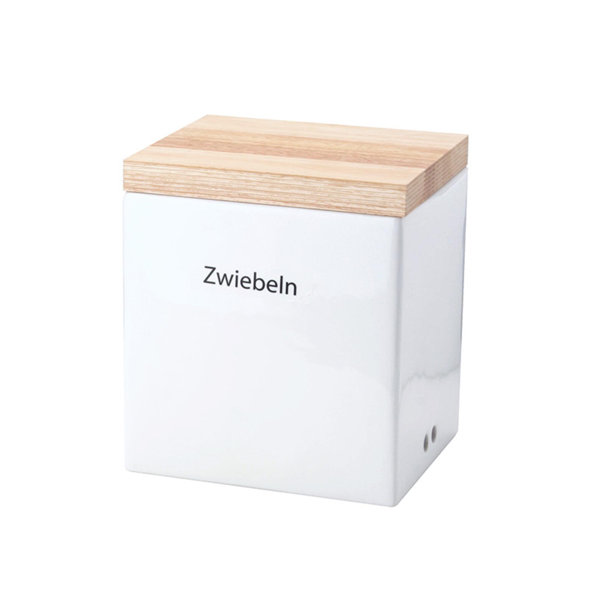 Continenta Vorratsdose mit Holzdeckel 18 x 15,5 x 20,5 cm