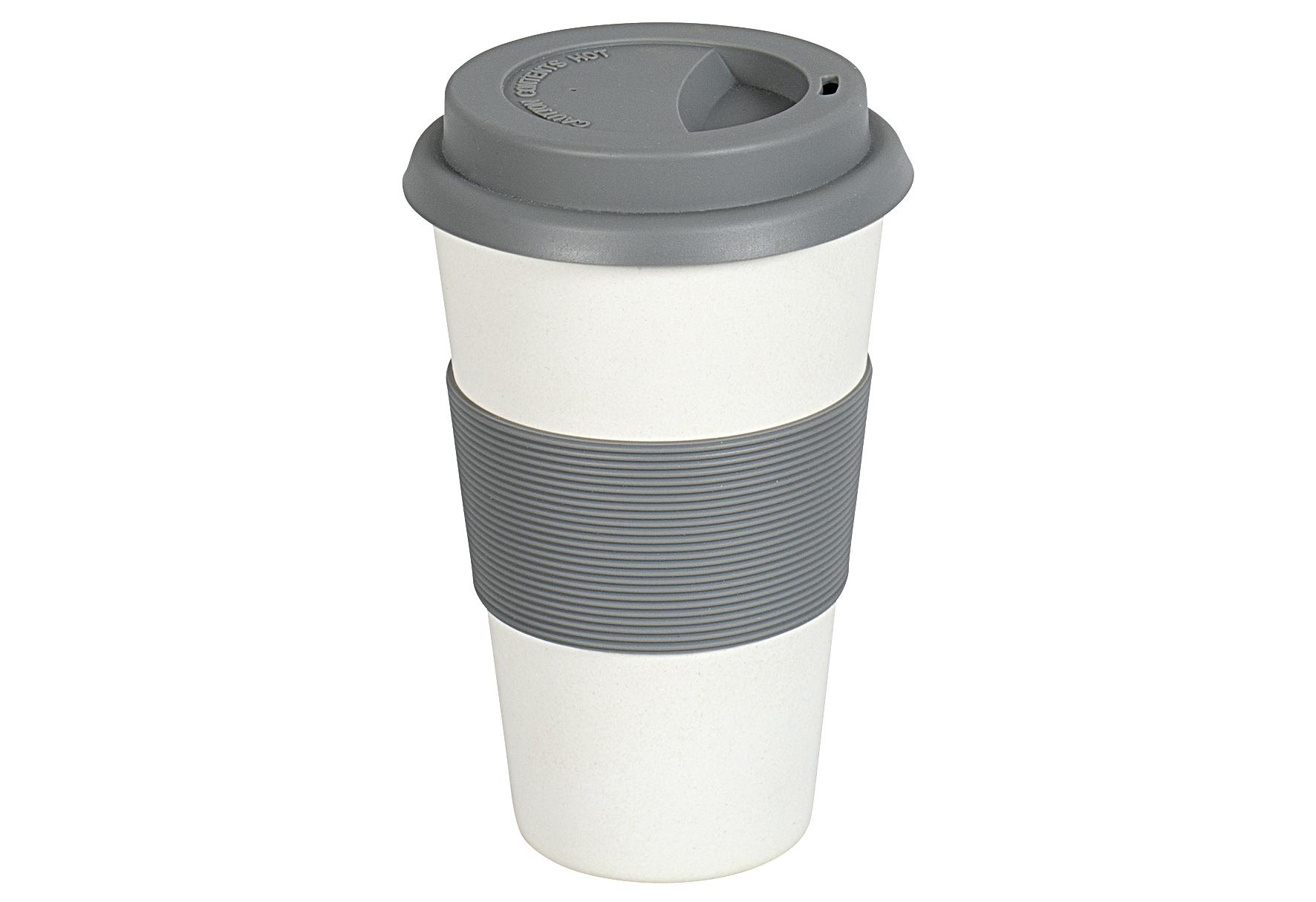 MAGU Becher Coffee to go Natur Design 350 ml creme ca. 70 % Cellulose (gewonnen aus Bambusfasern, Maisstärke und Holzfasern) / ca. 30 % Harze, lebensmittelecht