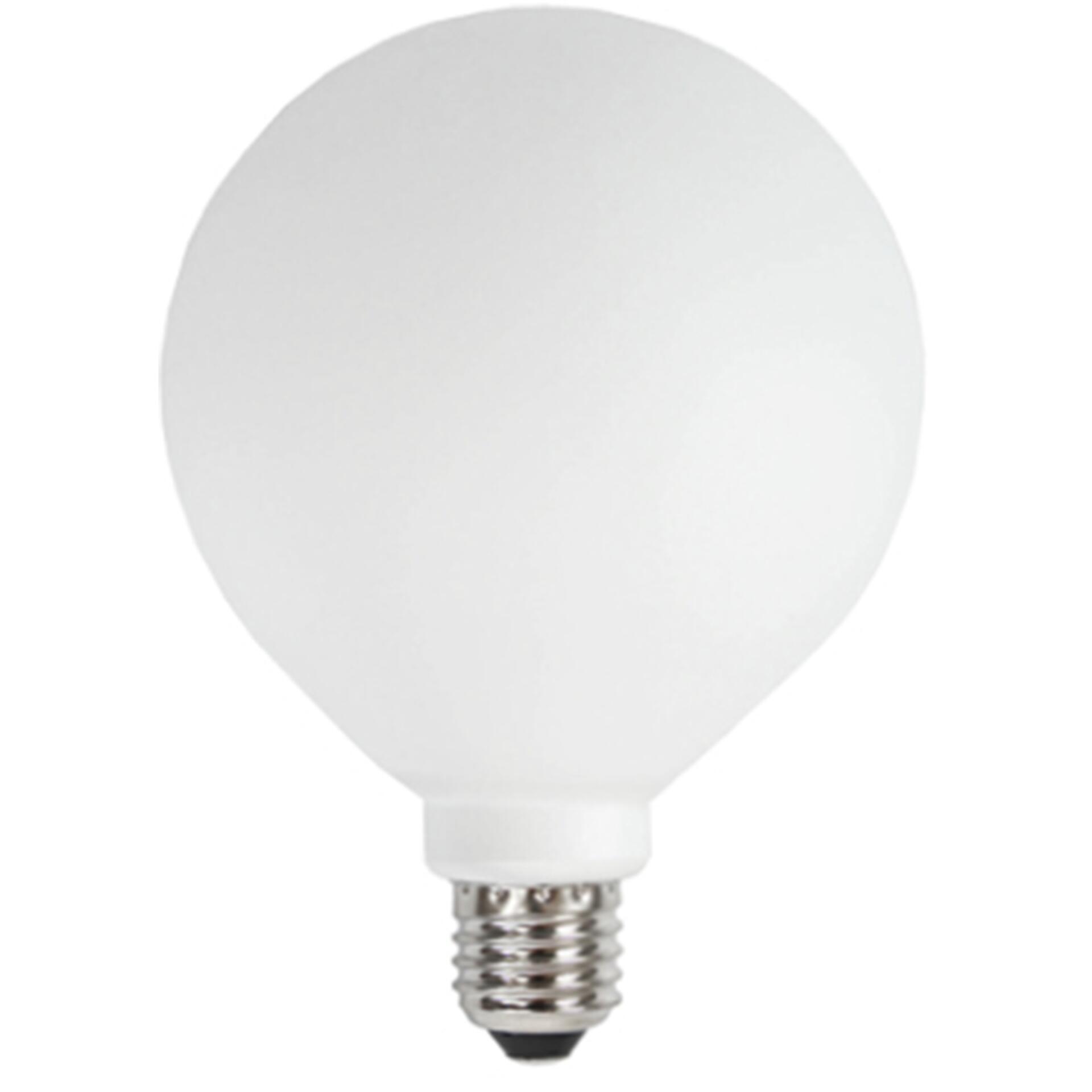 Nud LED Glühbirne Weiss 125 mm