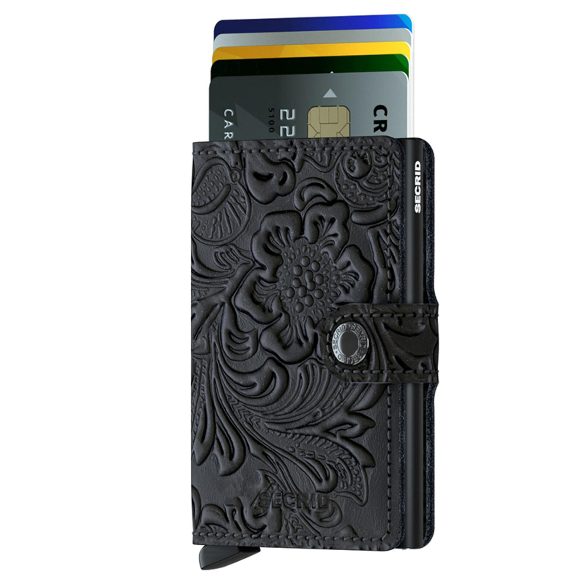Secrid Miniwallet Ornament Black Leder