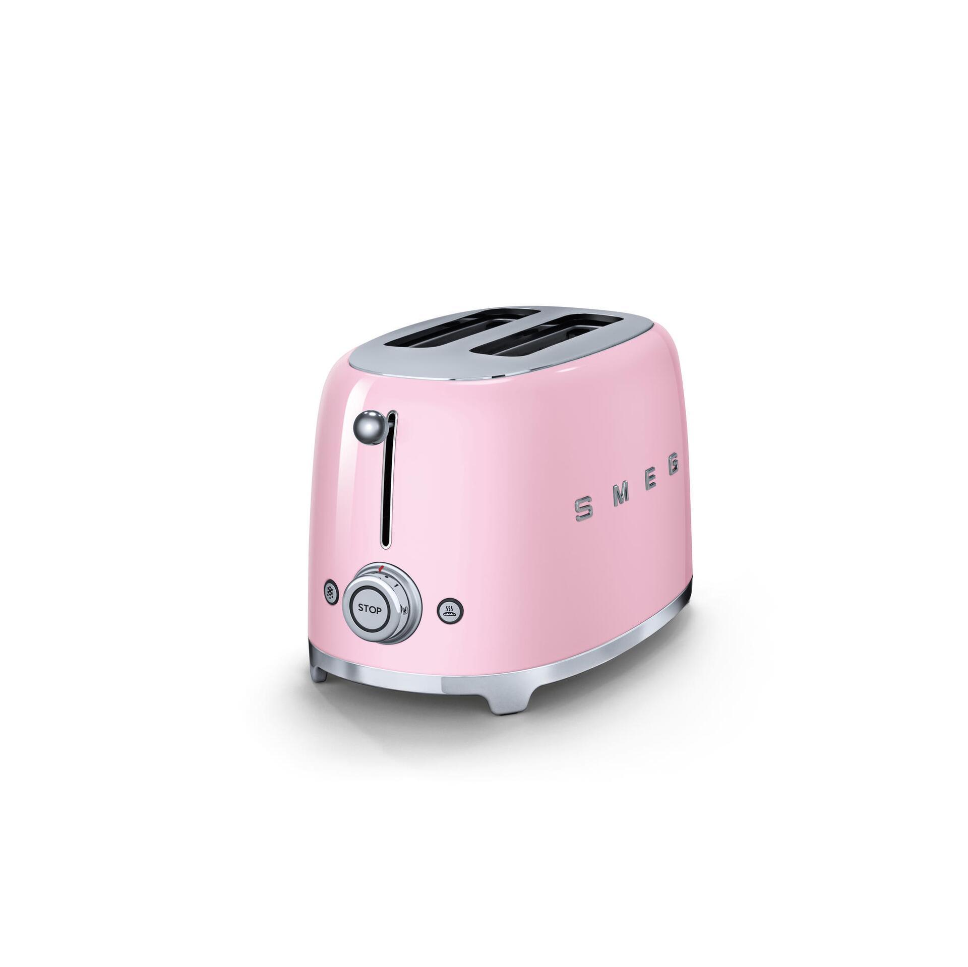 Smeg Retro 2-Scheiben-Toaster Cadillac Pink