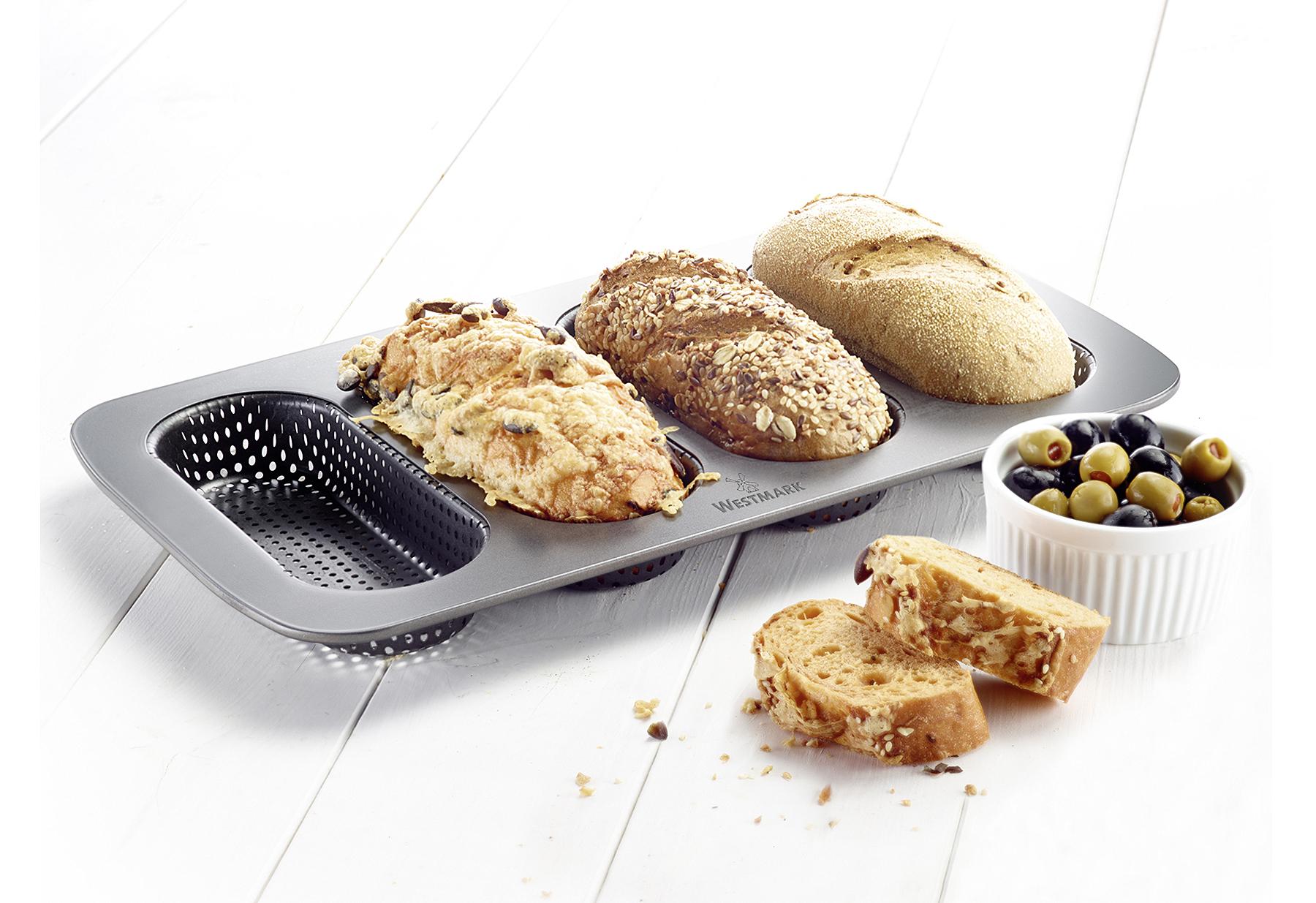 WESTMARK Mini-Baguetteblech 4 Nester