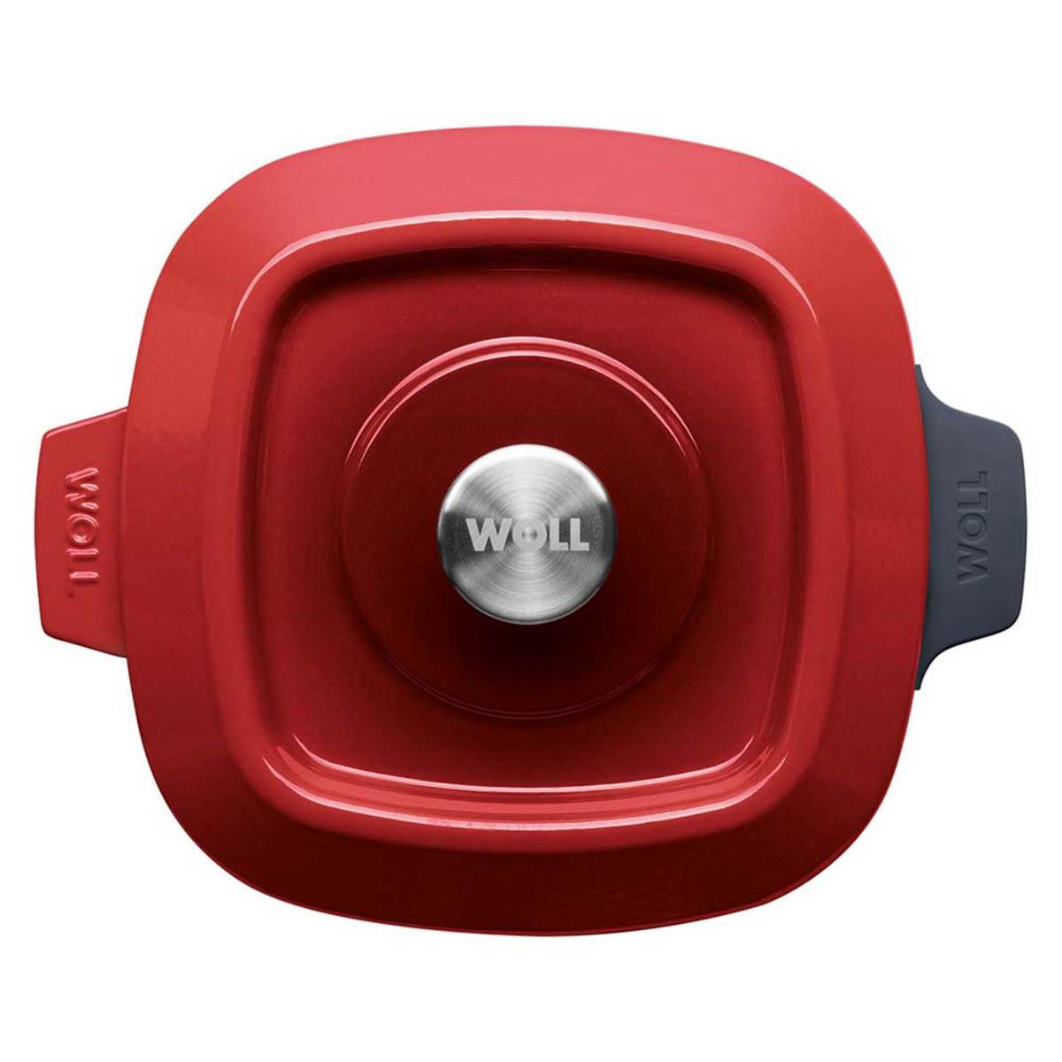 Woll Iron Kasserolle 24 x 24 cm Rot