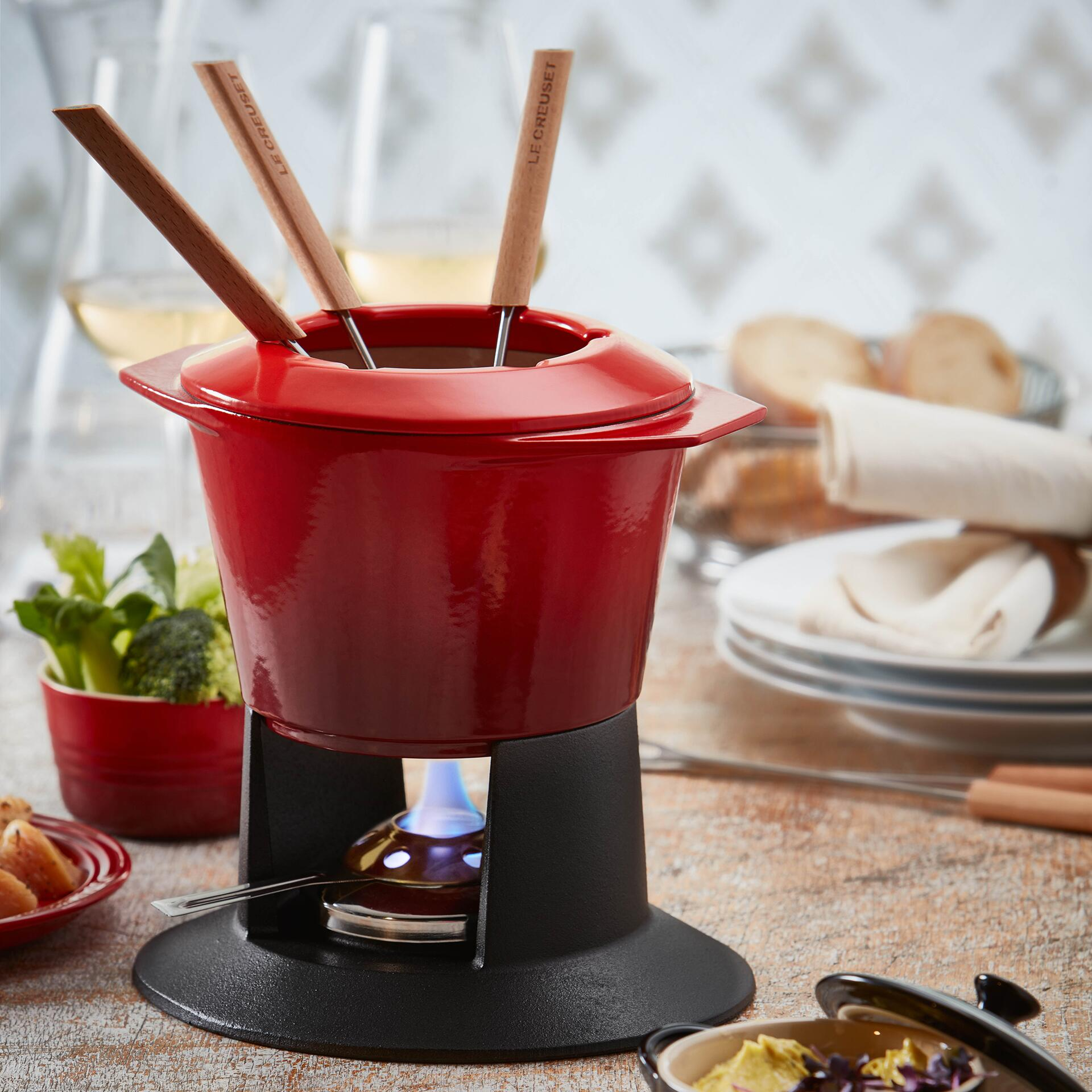 Le Creuset Fondue-Set Gourmand Ofenrot