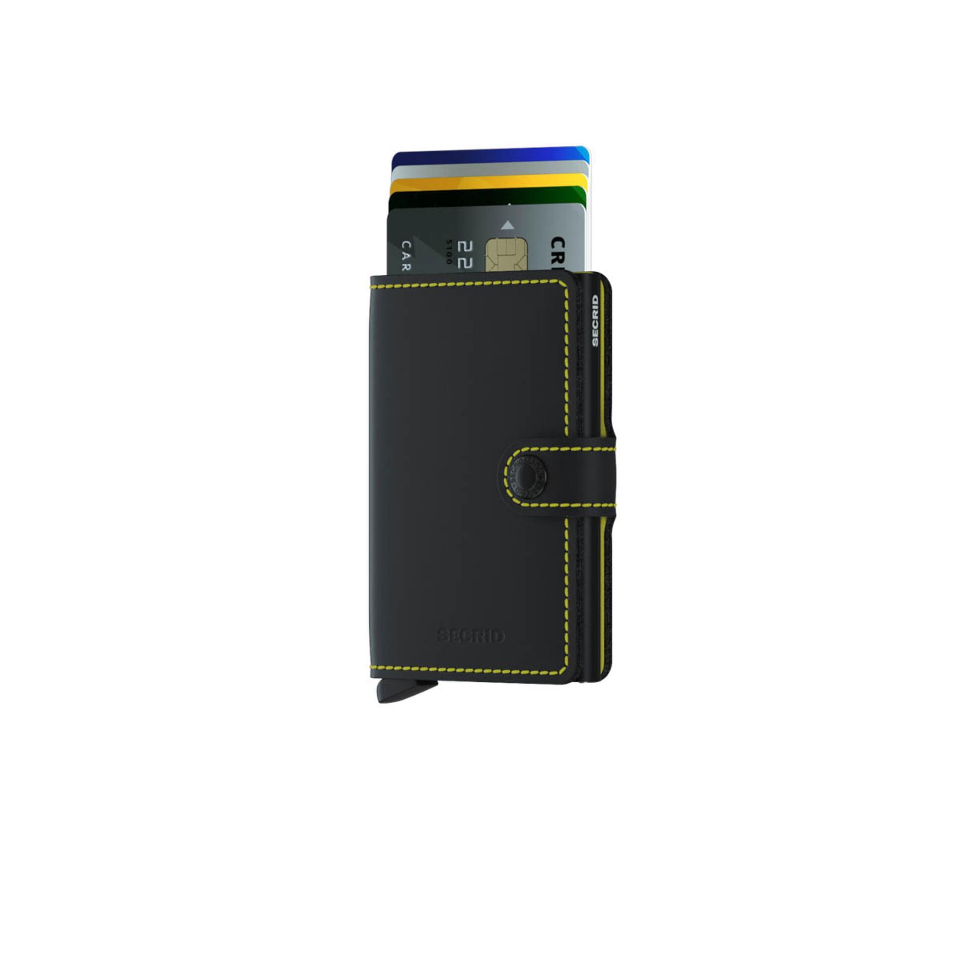 Secrid Miniwallet Matte Black & Yellow