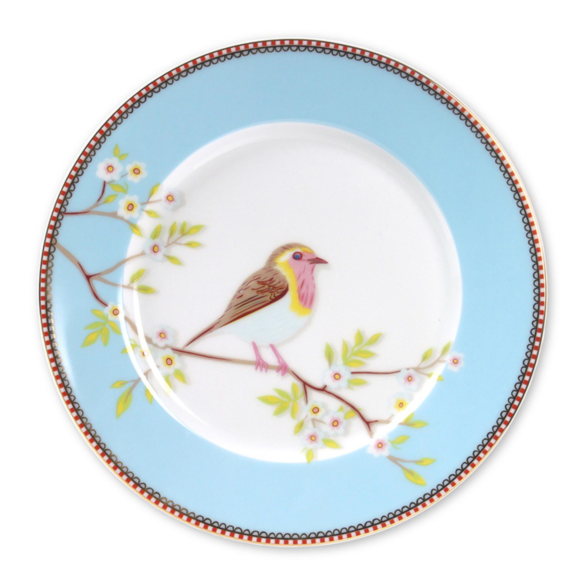 PiP Porzellan Frühstücksteller Early Bird Blau