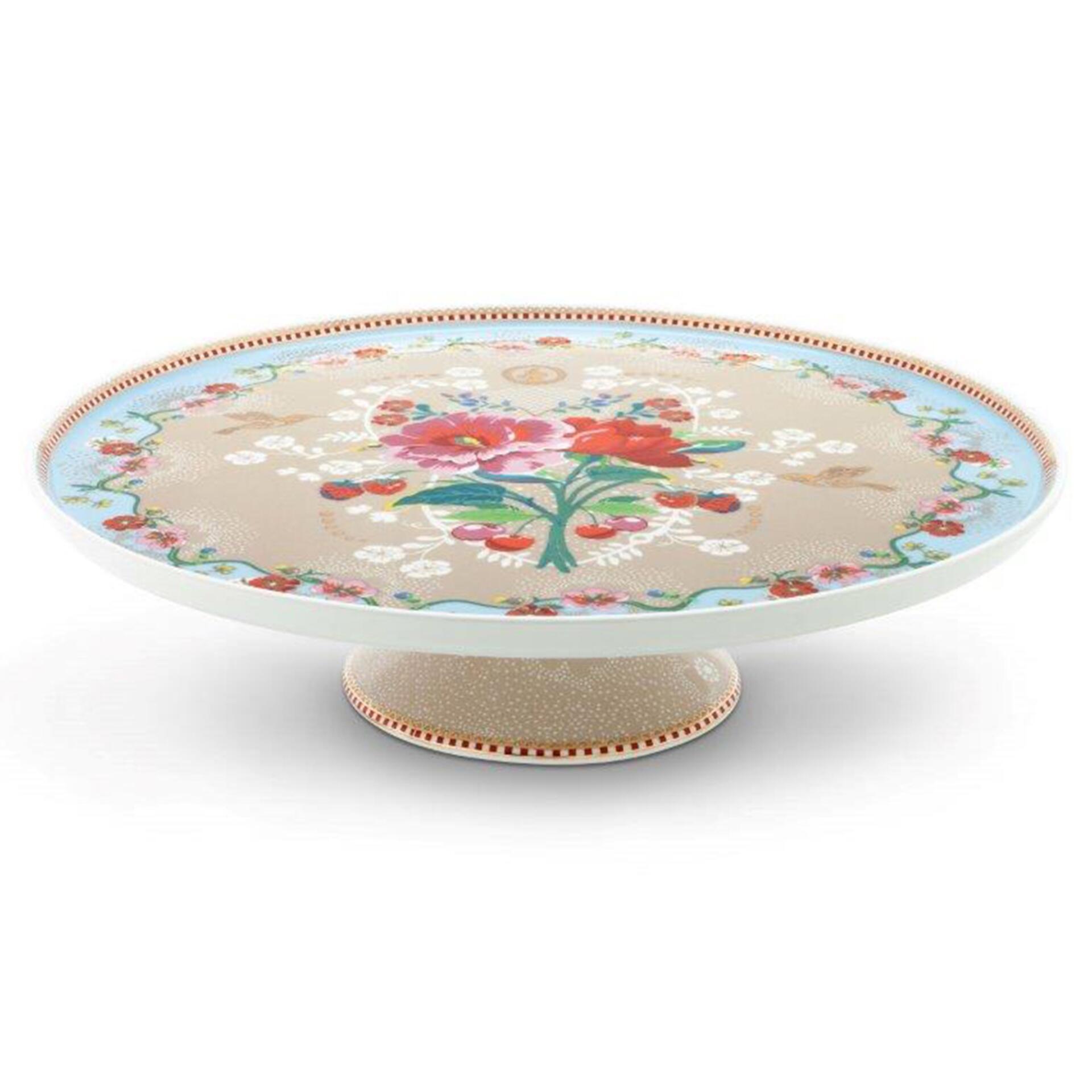 PiP Porzellan Tortenplatte Rose Khaki