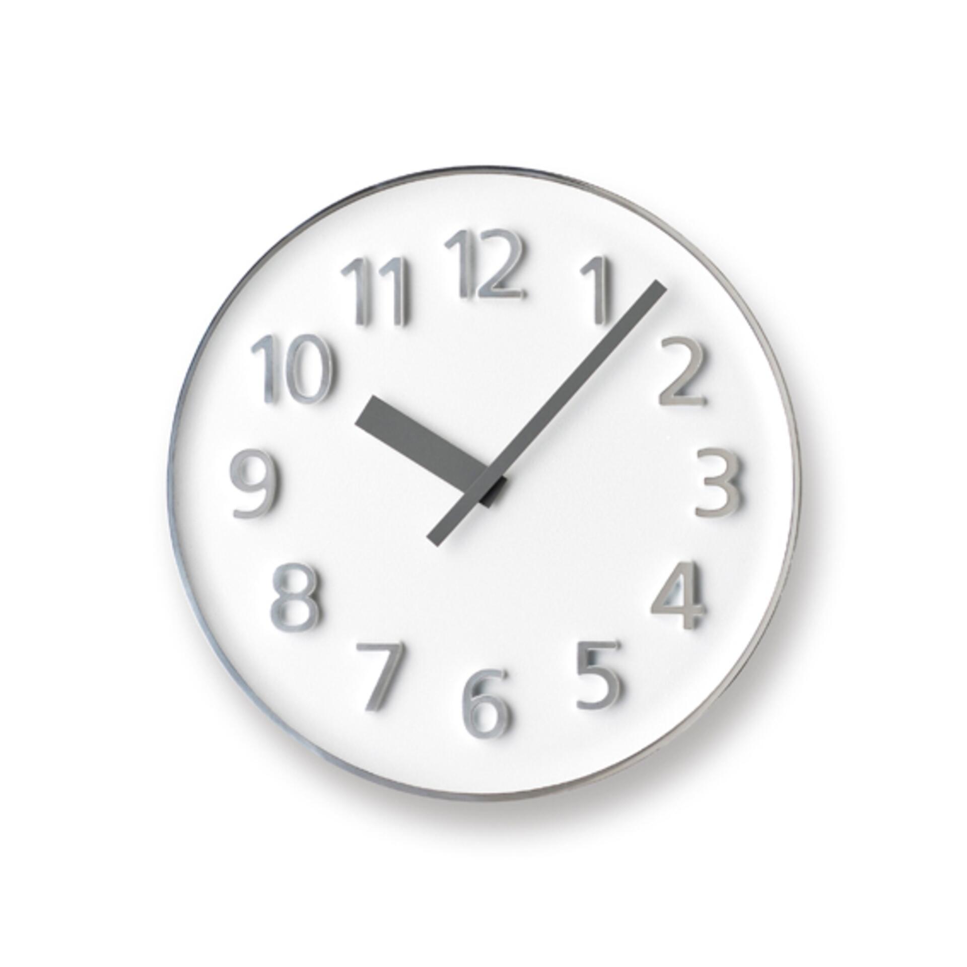 Lemnos Founder Clock Wanduhr Weiß