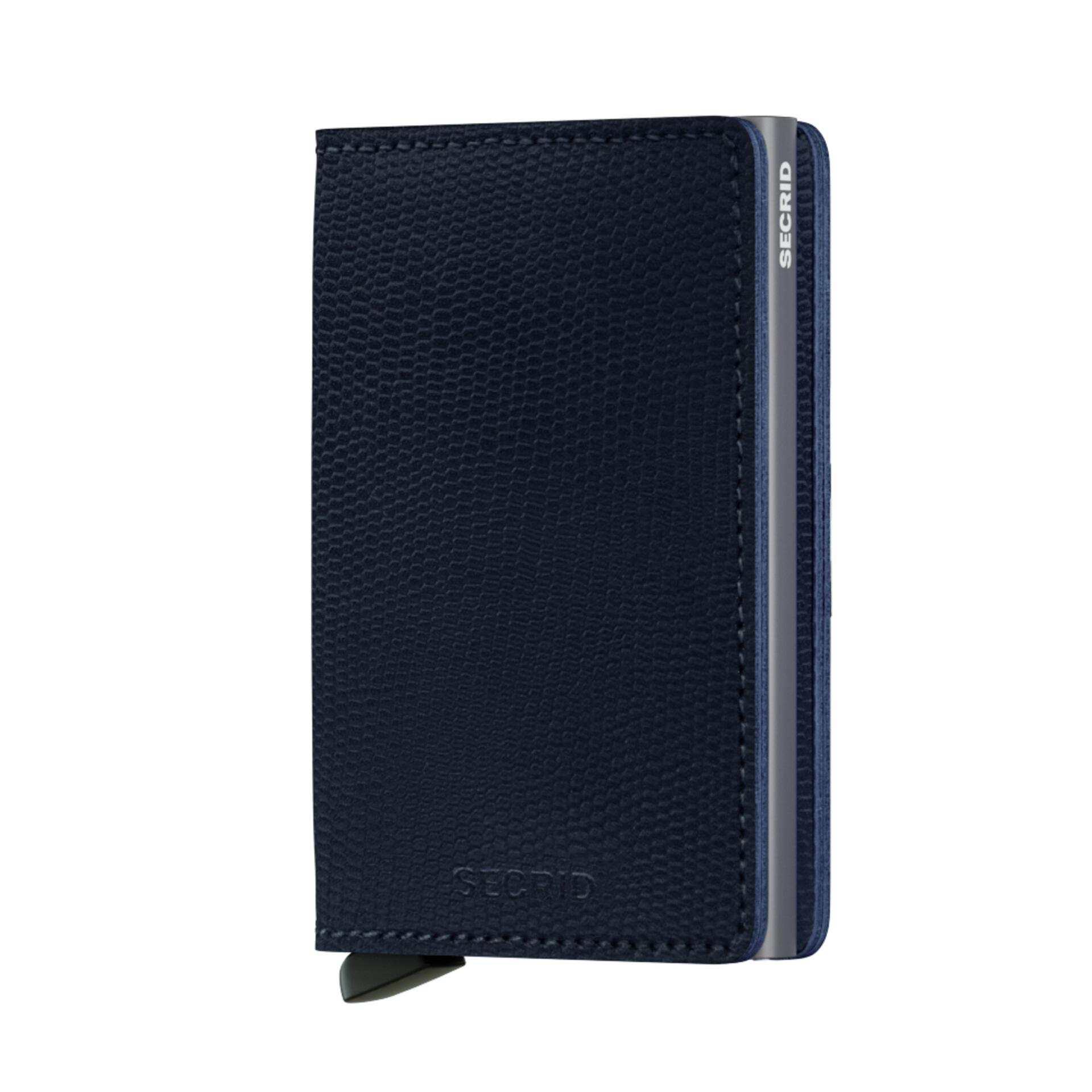 Secrid Slimwallet Rango Blue Titanium Leder