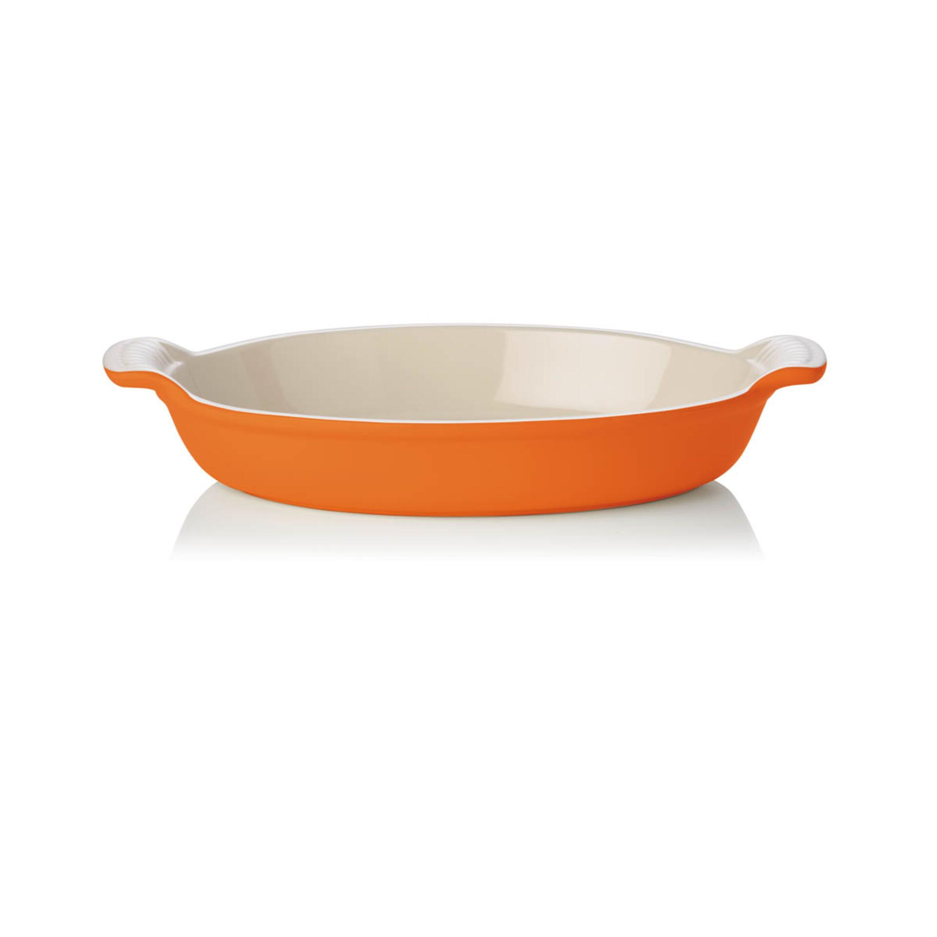 Le Creuset Auflaufform Tradition oval 28 cm Ofenrot
