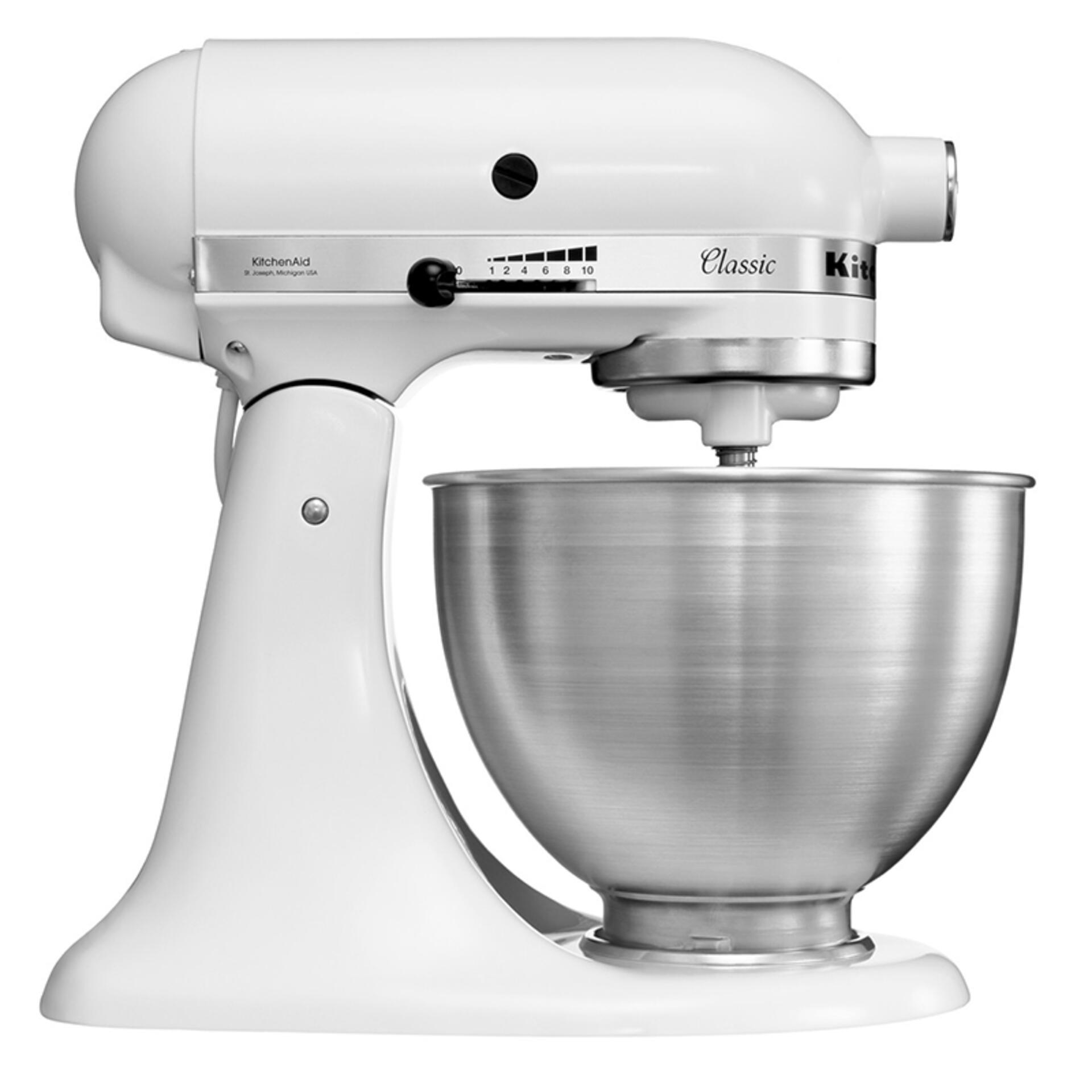 Kitchenaid Classic Küchenmaschine 5K45SSEWH Weiß