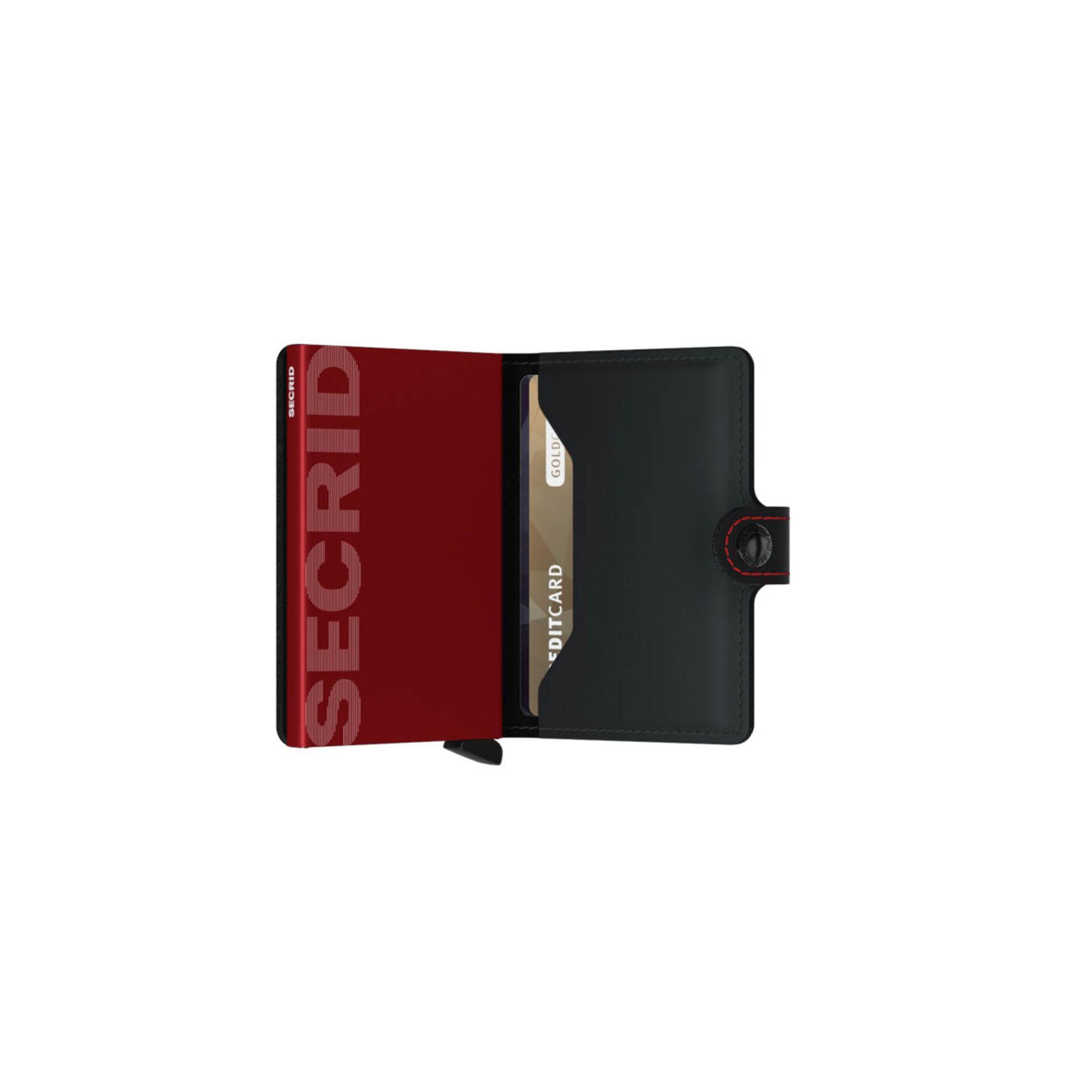 Secrid Miniwallet Matte Black & Red